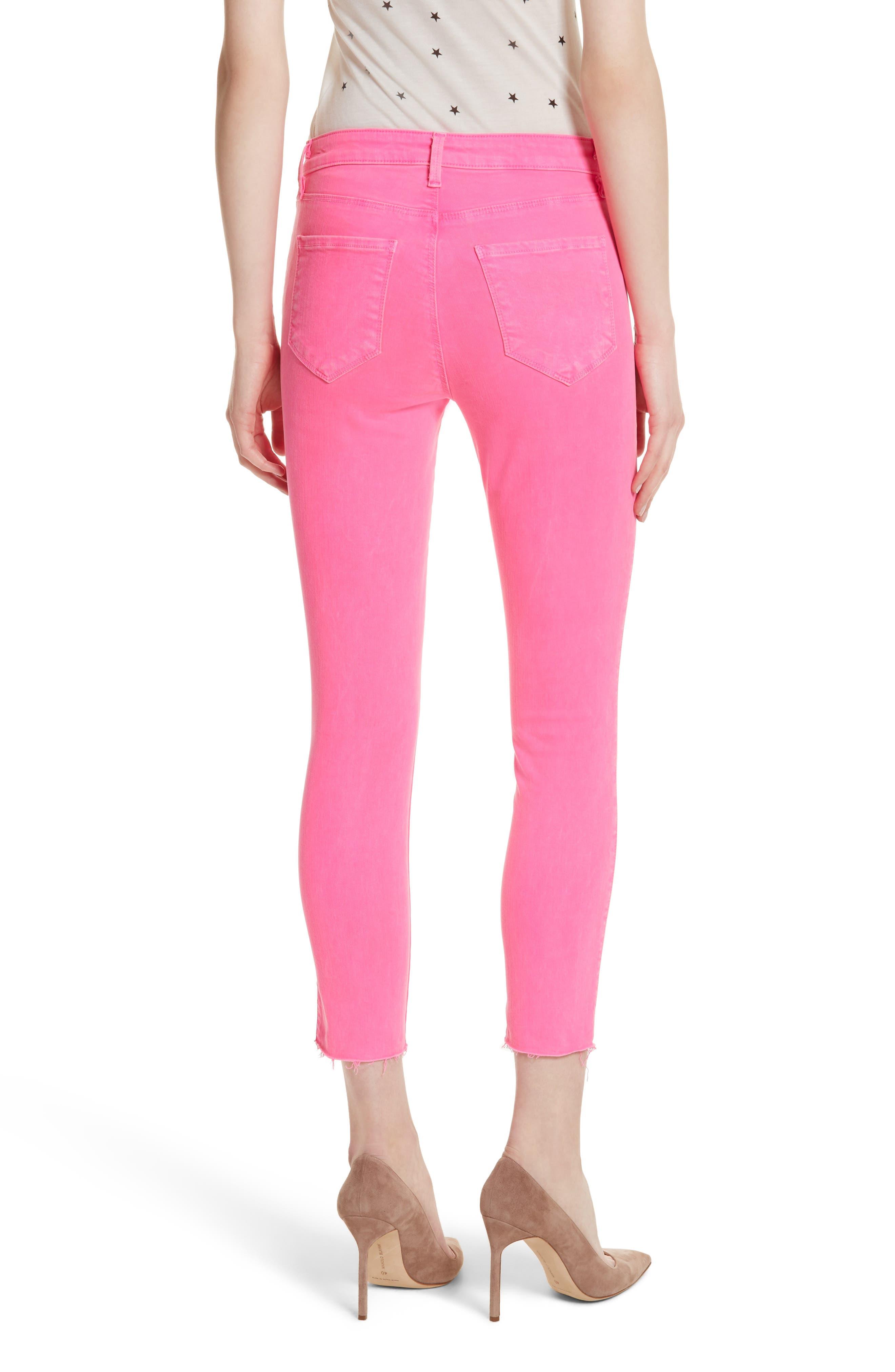 Margot Crop Skinny Jeans,                             Alternate thumbnail 2, color,                             FLAMINGO