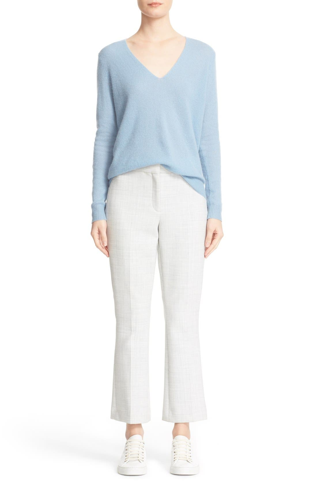 THEORY,                             'Erstina Pioneer' Crop Flare Leg Trousers,                             Alternate thumbnail 2, color,                             050