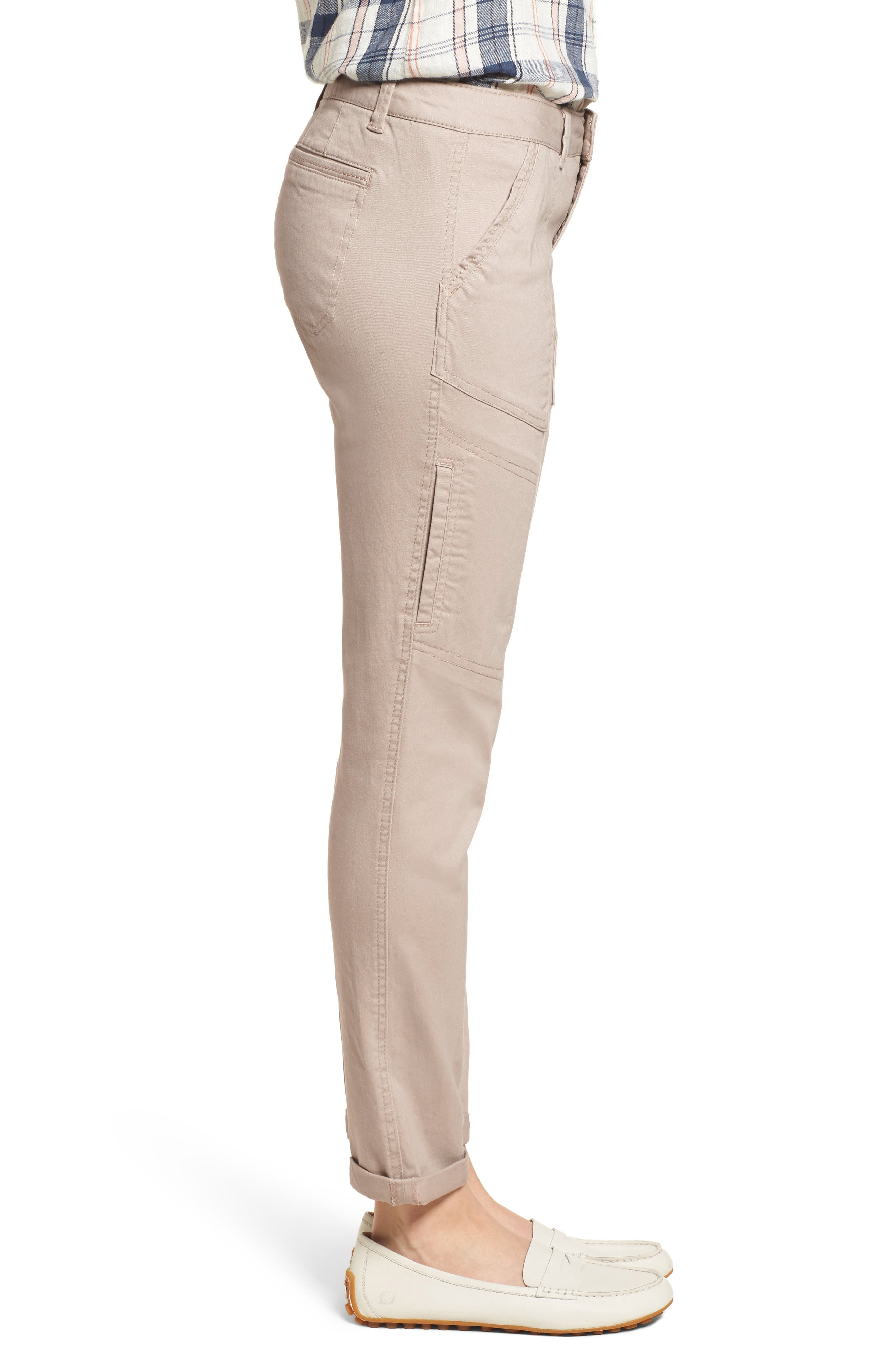 Twill Cargo Pants,                             Alternate thumbnail 3, color,                             FLAX