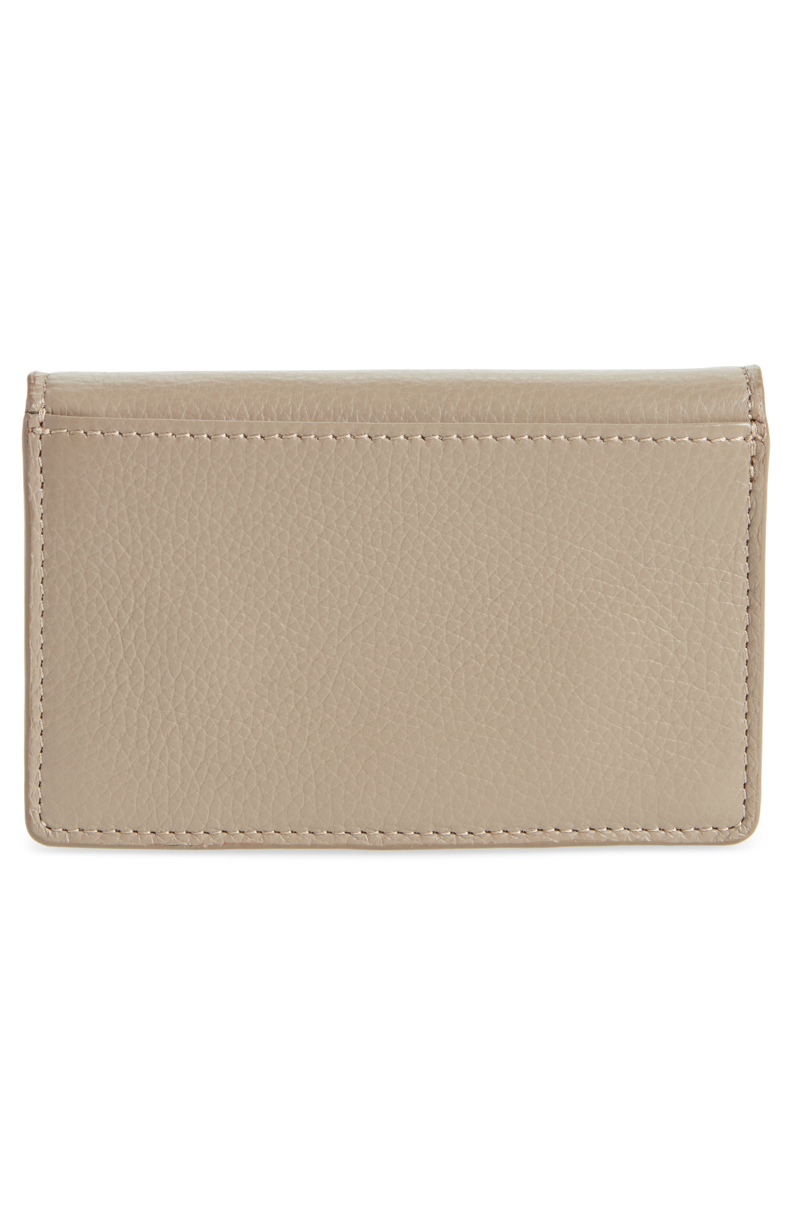Kriss Grommet Leather Card Wallet,                             Alternate thumbnail 3, color,                             020
