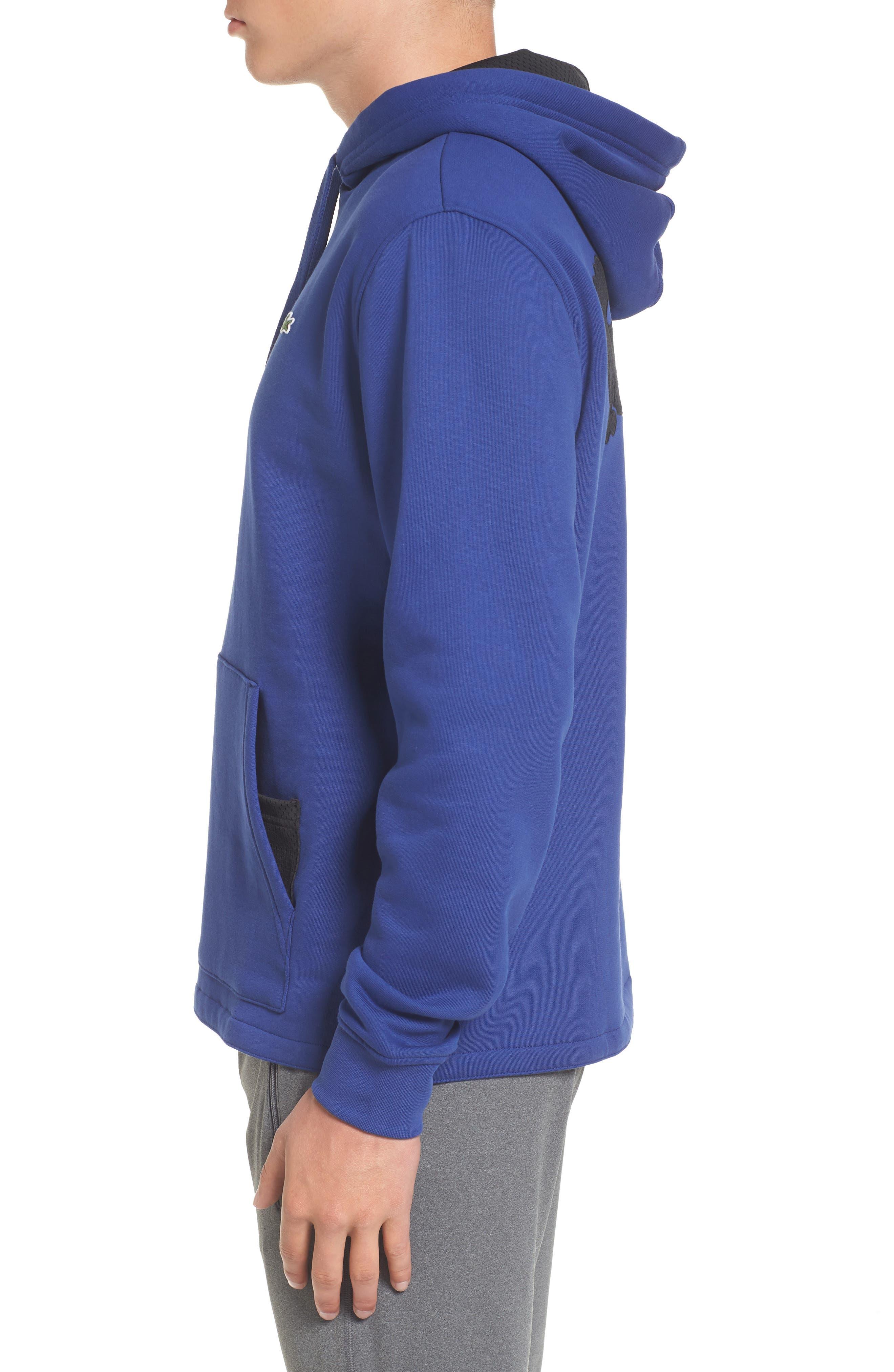 Brushed Fleece Logo Hoodie,                             Alternate thumbnail 6, color,