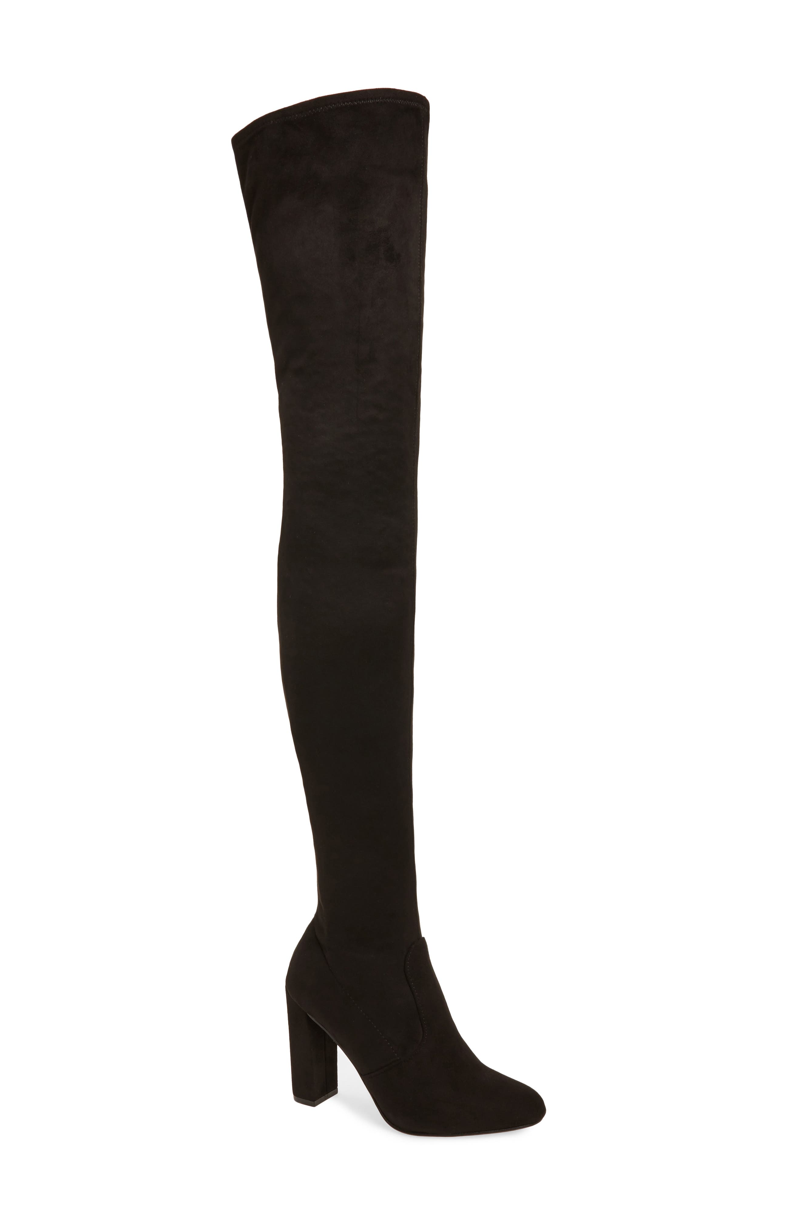 Ezra Thigh High Boot,                         Main,                         color, 001