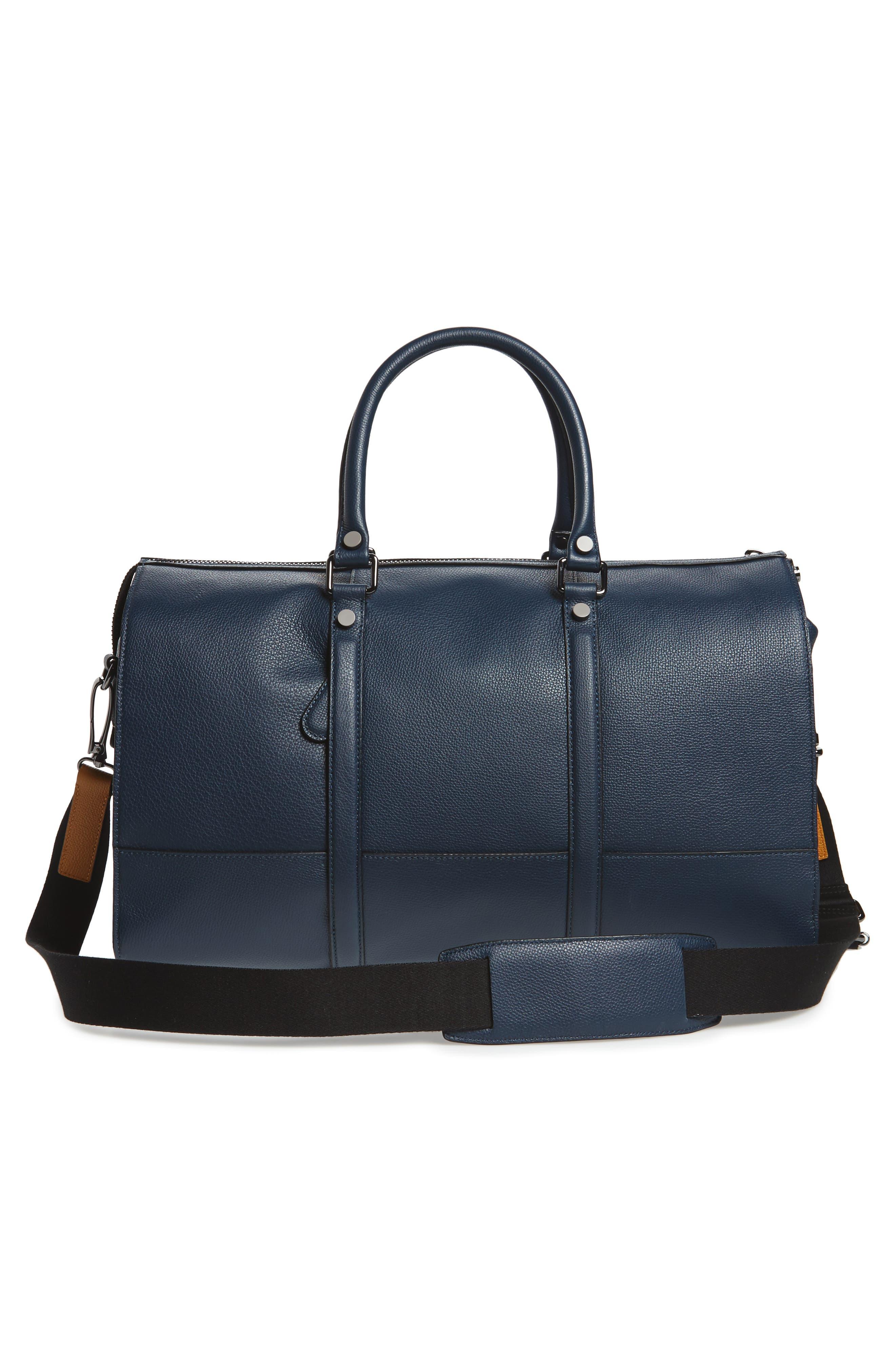 Leather Duffel Bag,                             Alternate thumbnail 8, color,