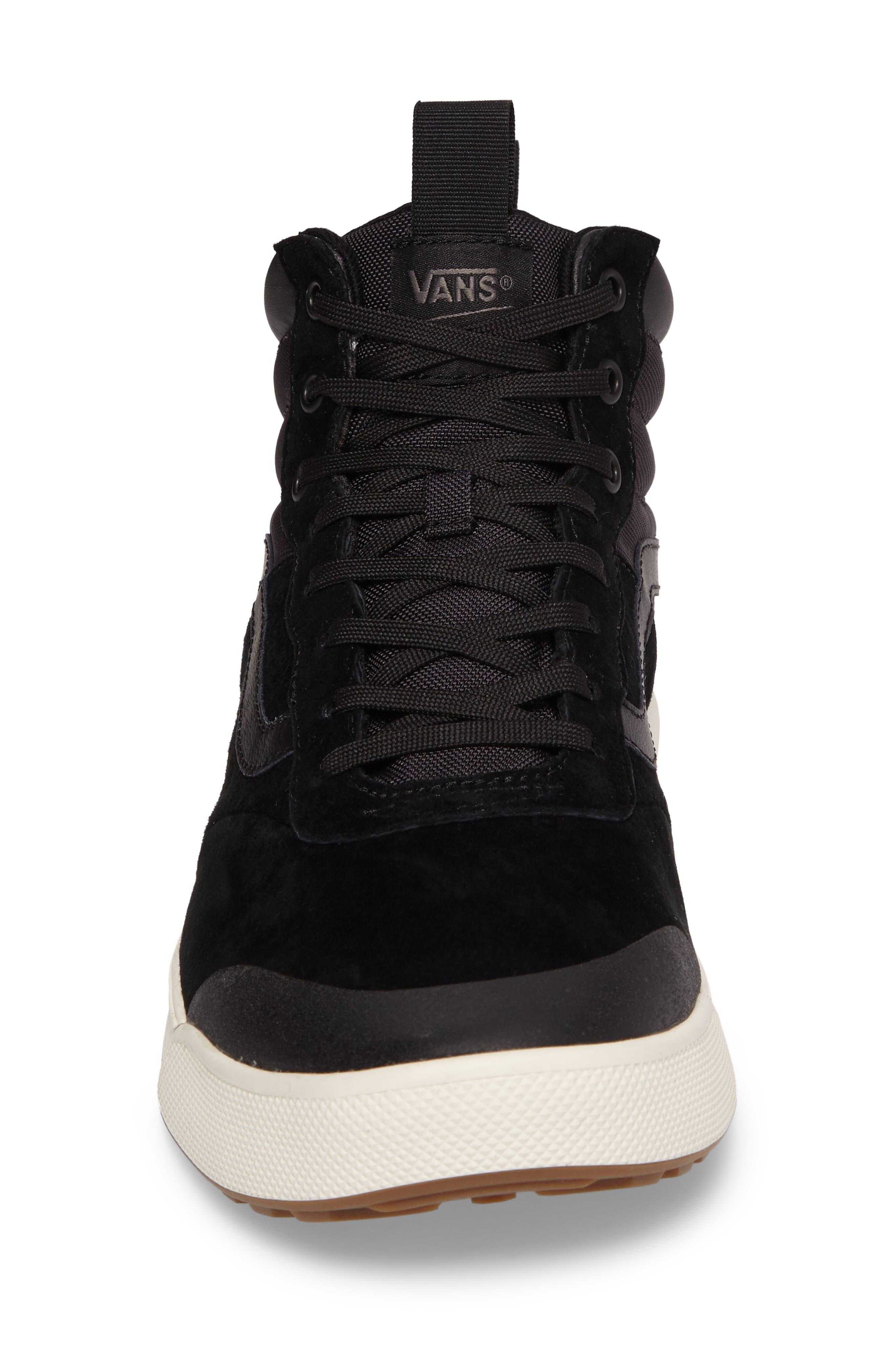 Ultrarange Hi Sneaker,                             Alternate thumbnail 4, color,                             BLACK SUEDE