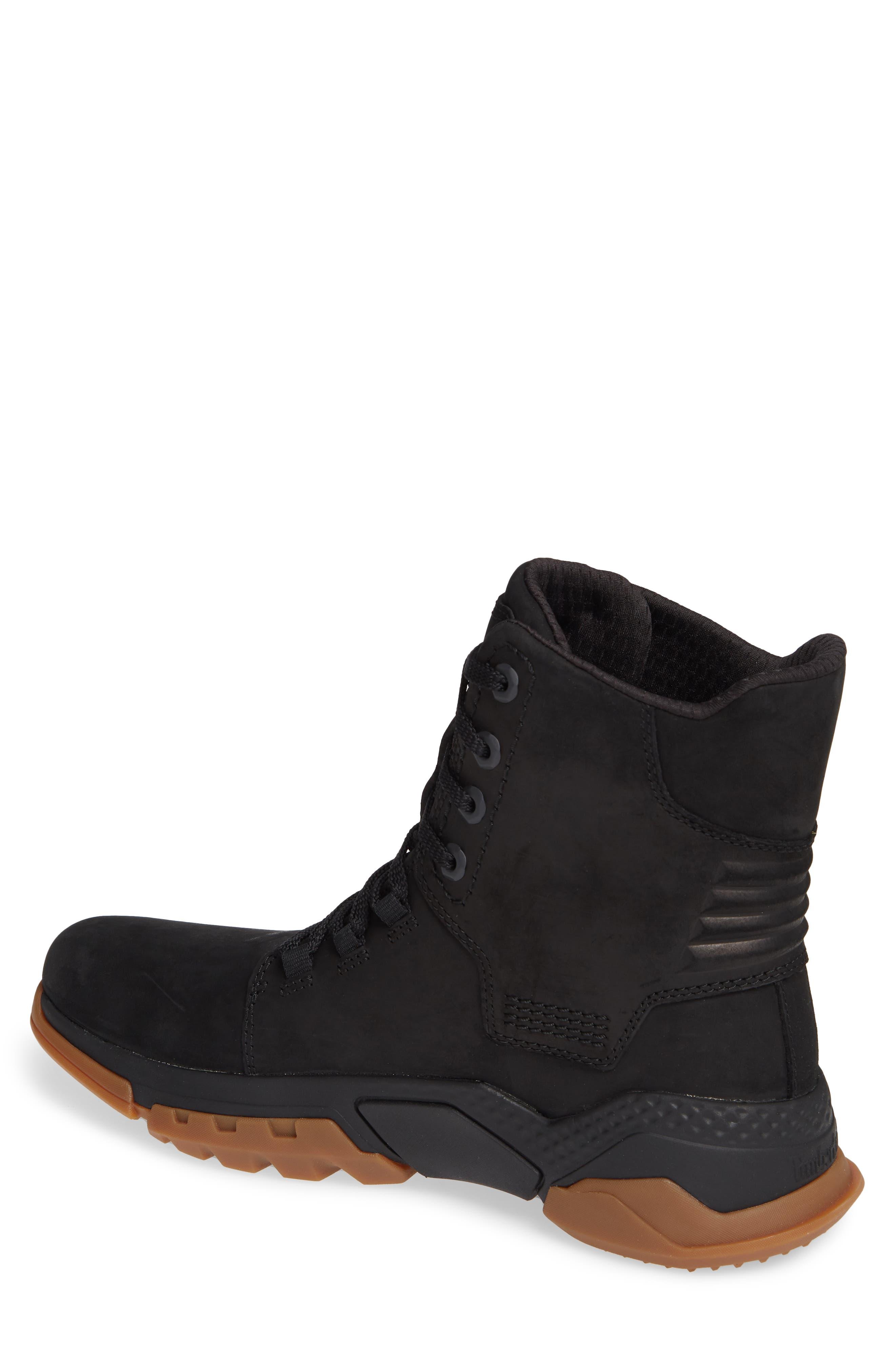 City Force Reveal Plain Toe Boot,                             Alternate thumbnail 2, color,                             BLACK LEATHER/ NEOPRENE