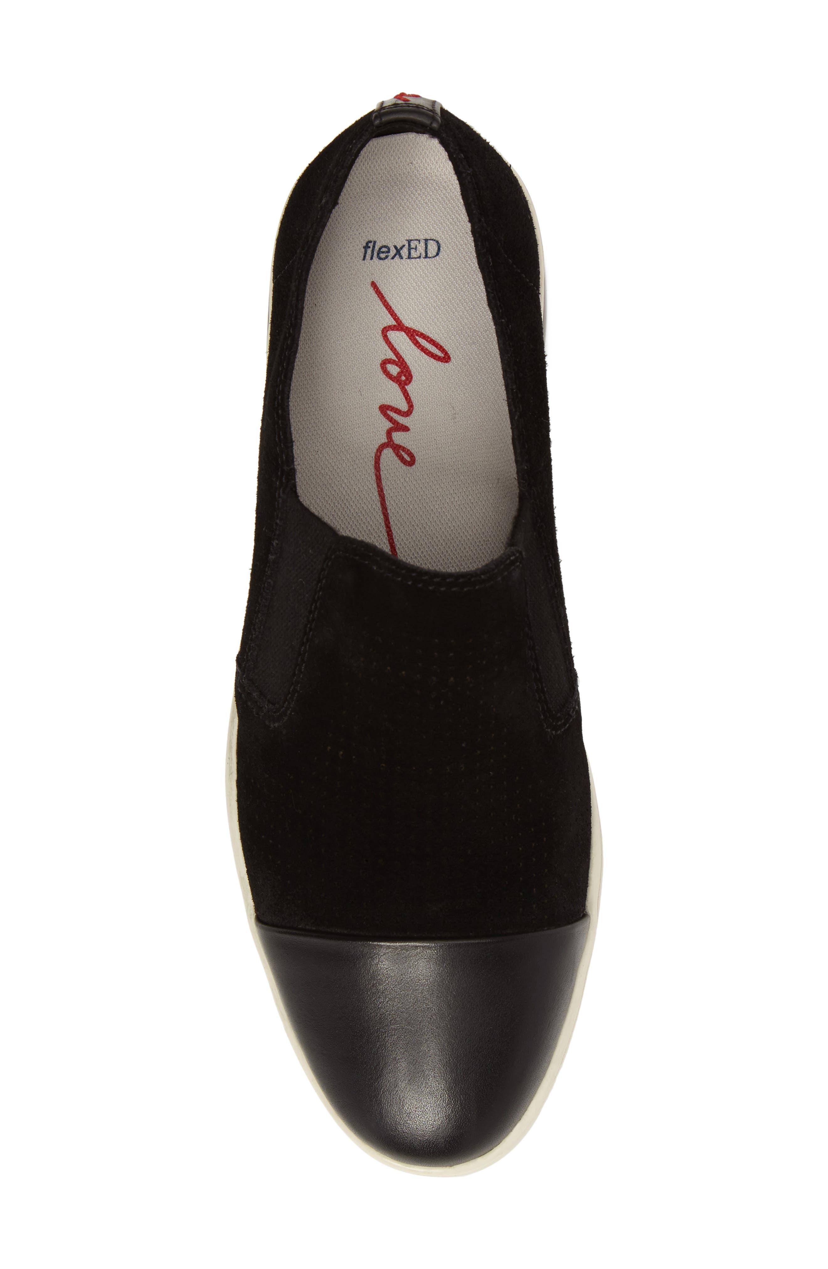 Aviana Cap Toe Slip-On Sneaker,                             Alternate thumbnail 5, color,                             002