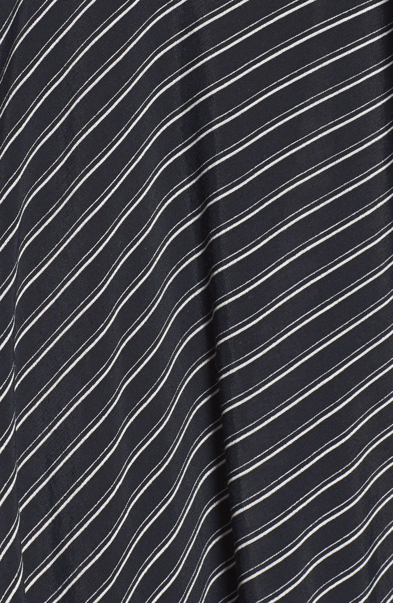 Kamares Ruffle Midi Skirt,                             Alternate thumbnail 5, color,                             001