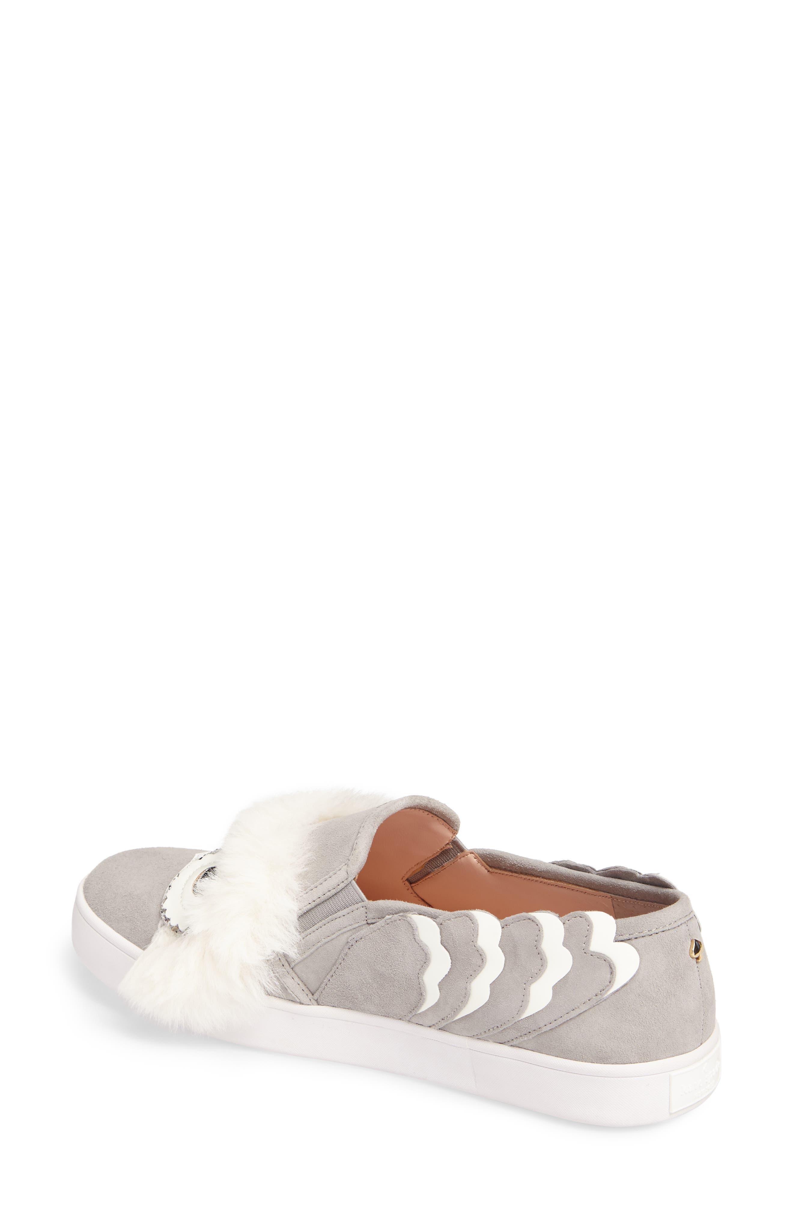 leferts faux fur trim slip-on sneaker,                             Alternate thumbnail 2, color,                             020