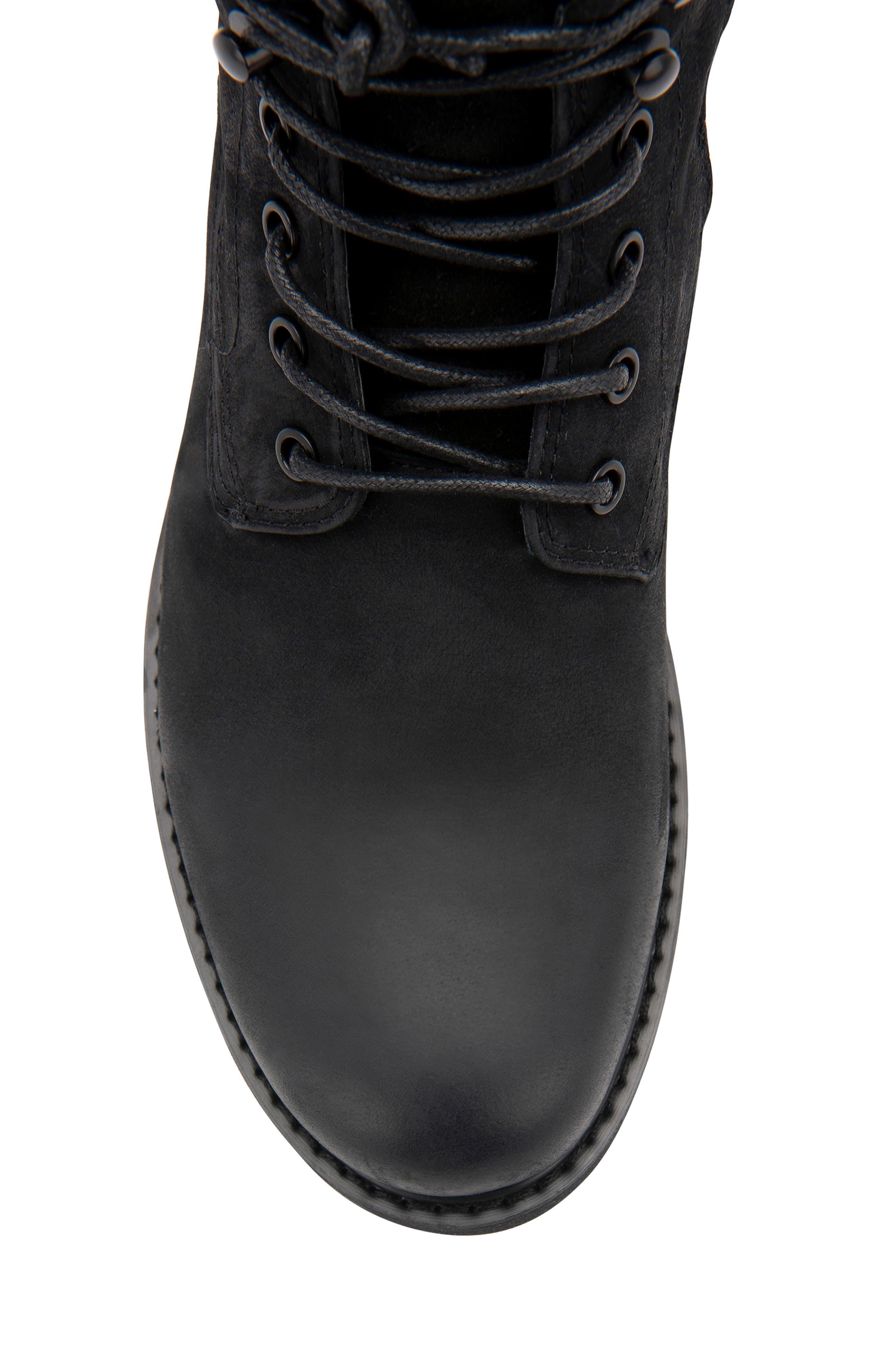 Patton Waterproof Plain Toe Boot,                             Alternate thumbnail 6, color,                             BLACK NUBUCK