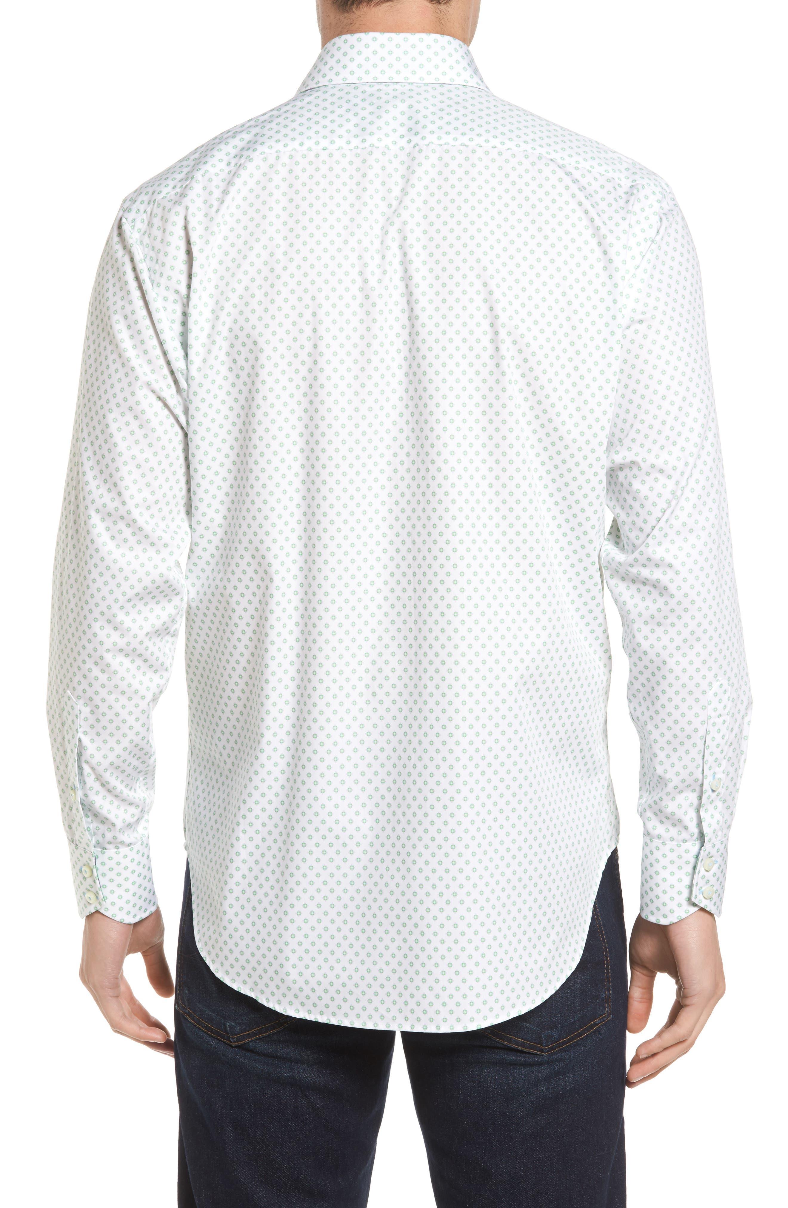 Classic Fit Neat Floral Print Sport Shirt,                             Alternate thumbnail 2, color,                             300