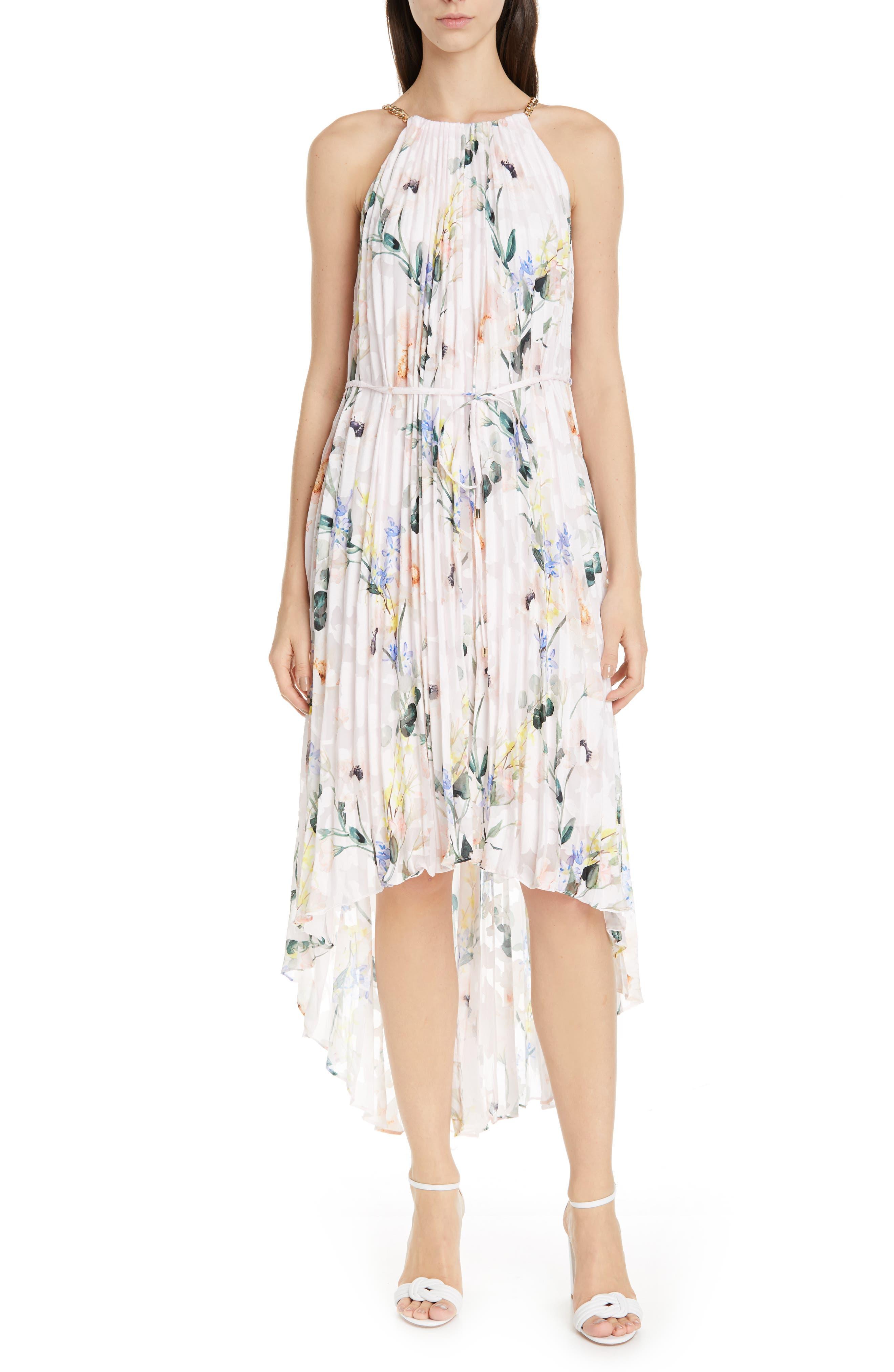Ted Baker London Valetia Elegance High/low Dress, Pink