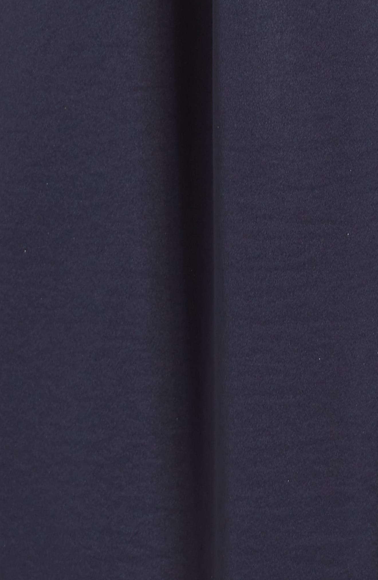 Margie Tie Waist Satin Midi Dress,                             Alternate thumbnail 6, color,                             NAVY