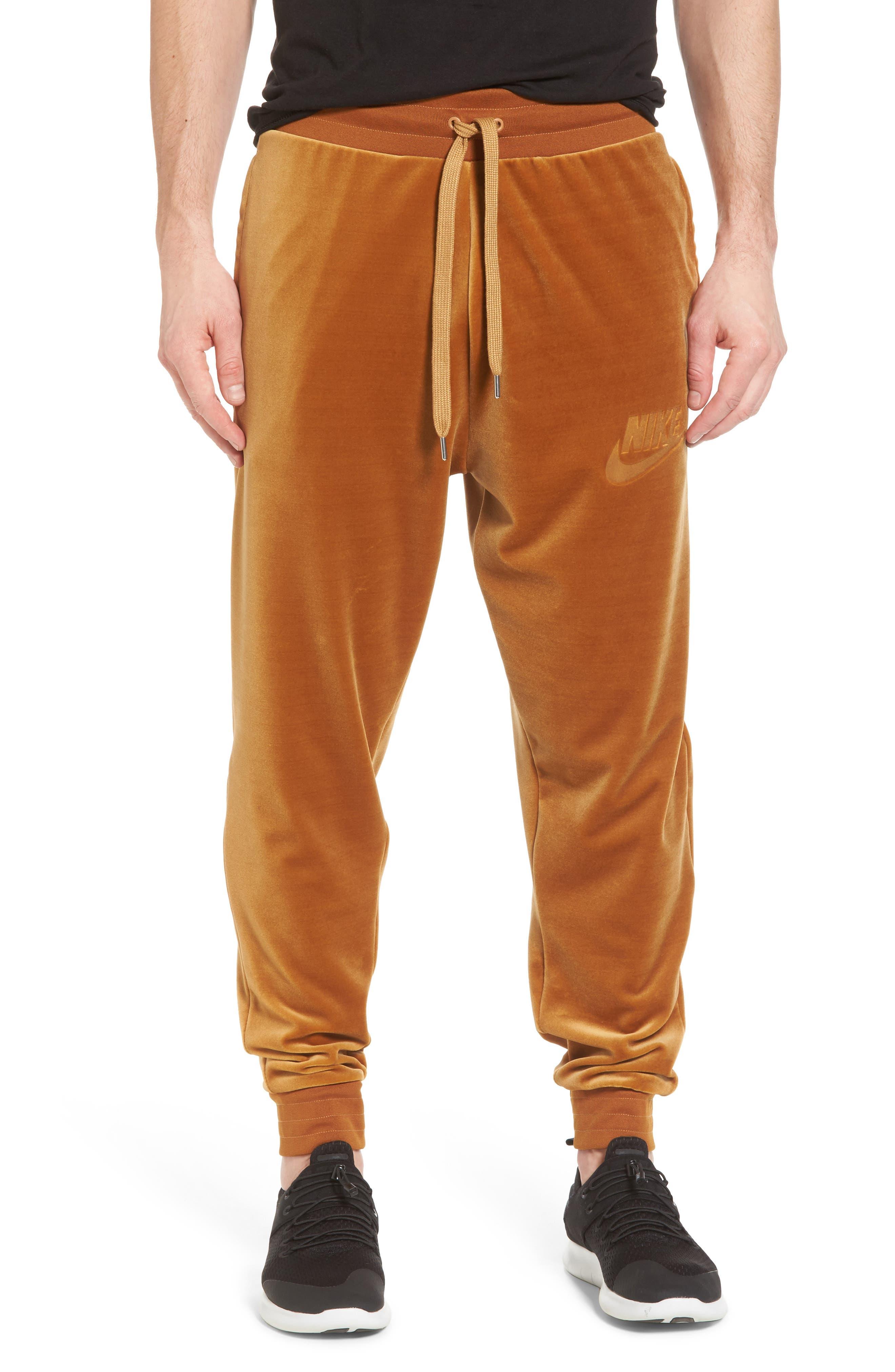 NIKE,                             Plush Velvet Jogger Pants,                             Main thumbnail 1, color,                             042