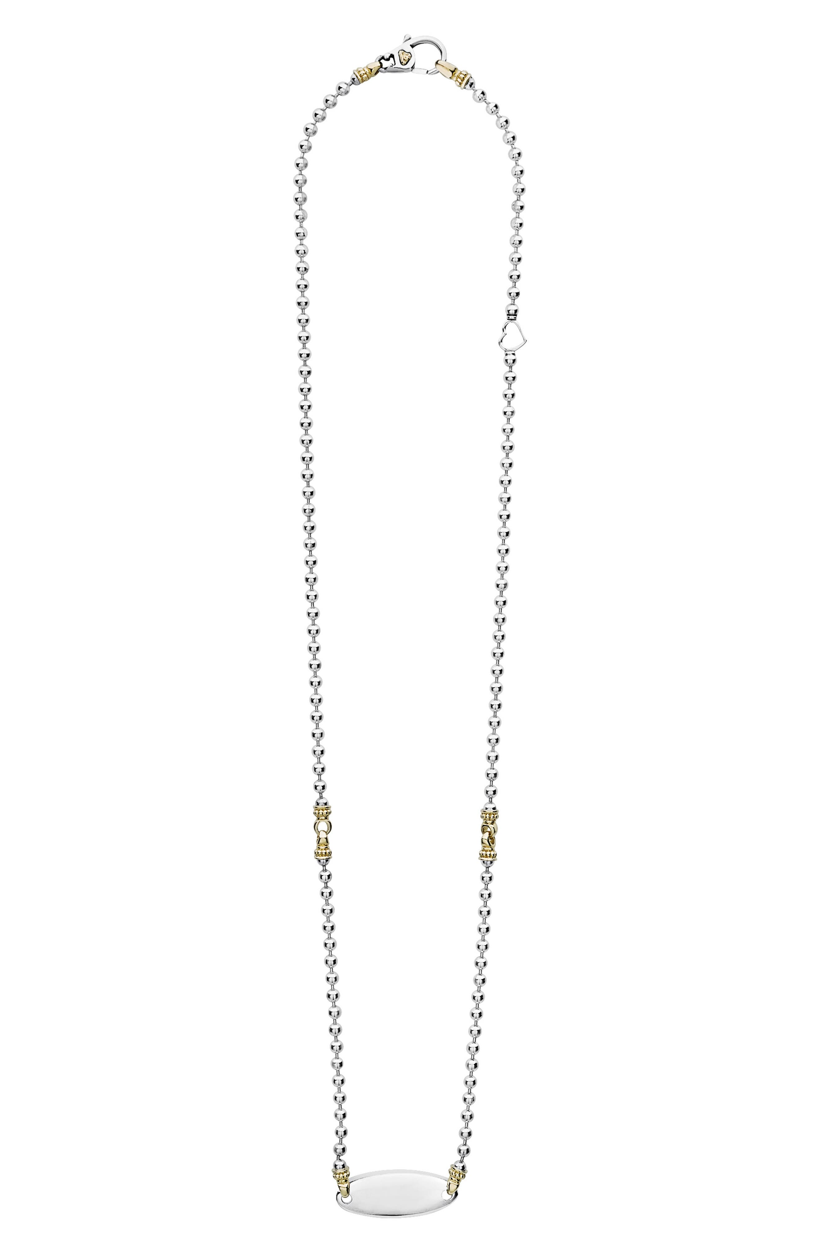 Beloved Oval Plate Chain Necklace,                         Main,                         color, SILVER