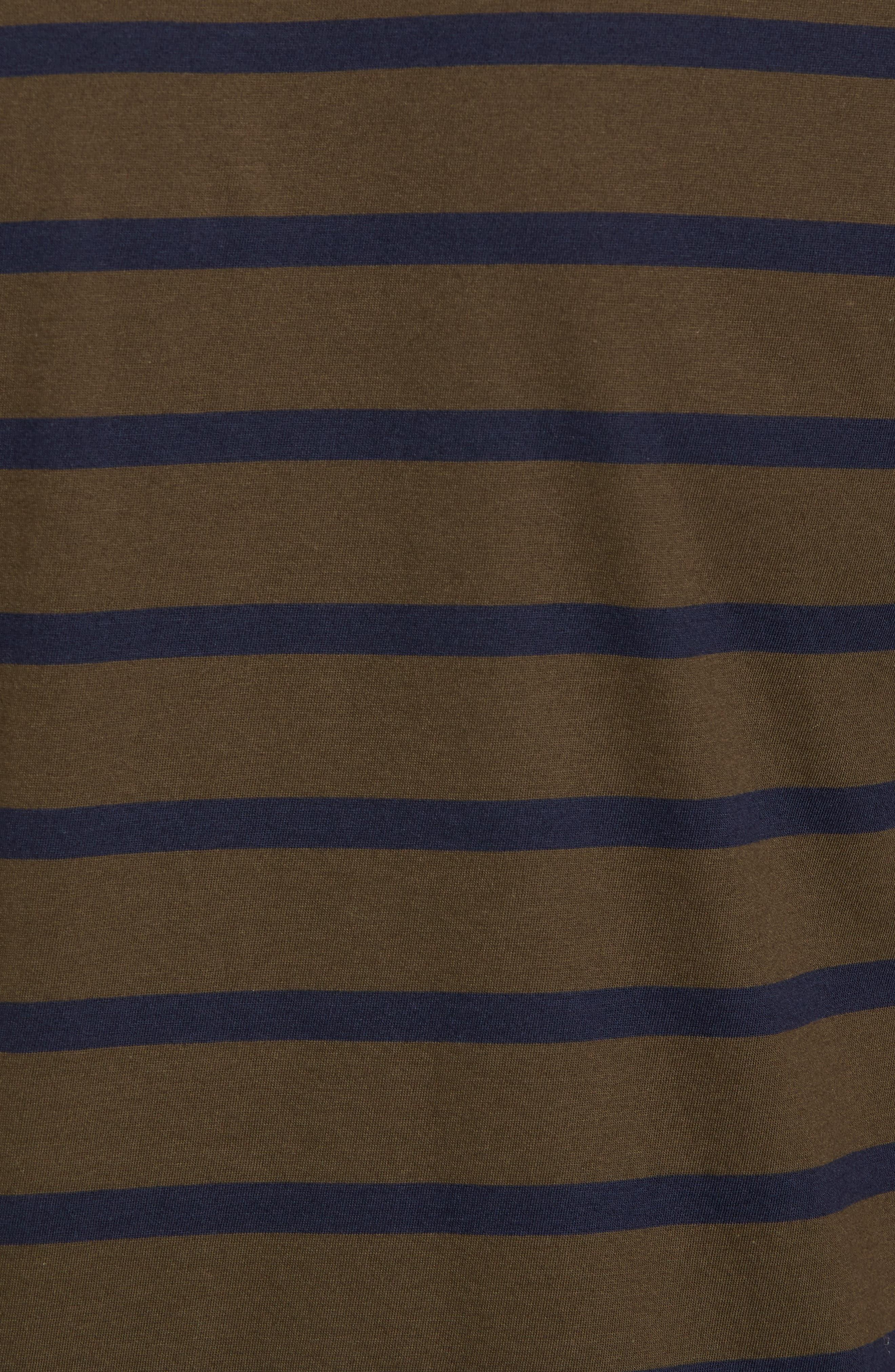 Peruvian Pima Cotton Stripe T-Shirt,                             Alternate thumbnail 5, color,                             395