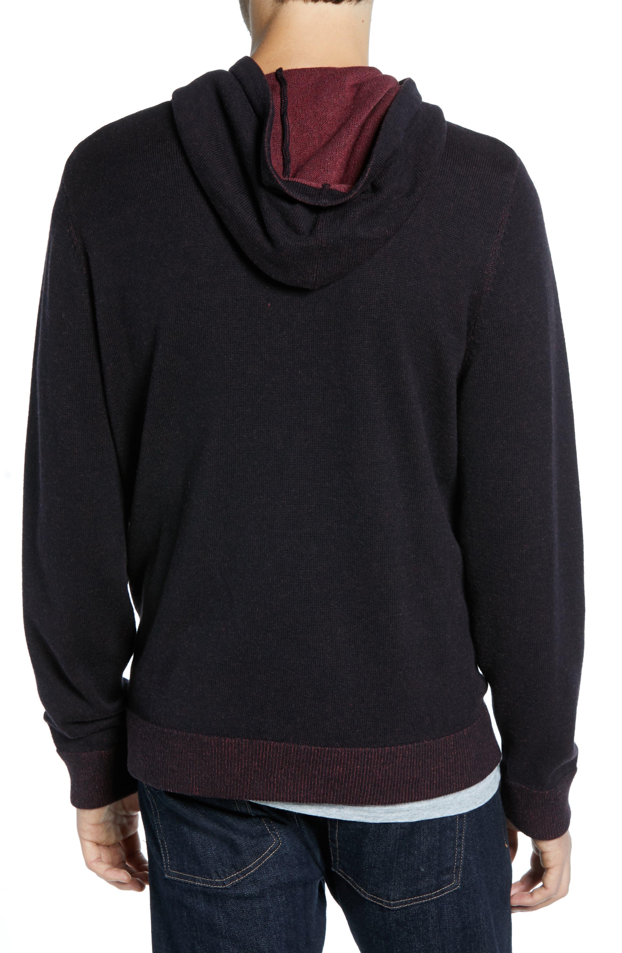 Regular Fit Cotton & Cashmere Hoodie,                             Alternate thumbnail 2, color,                             BLACK CAVIAR