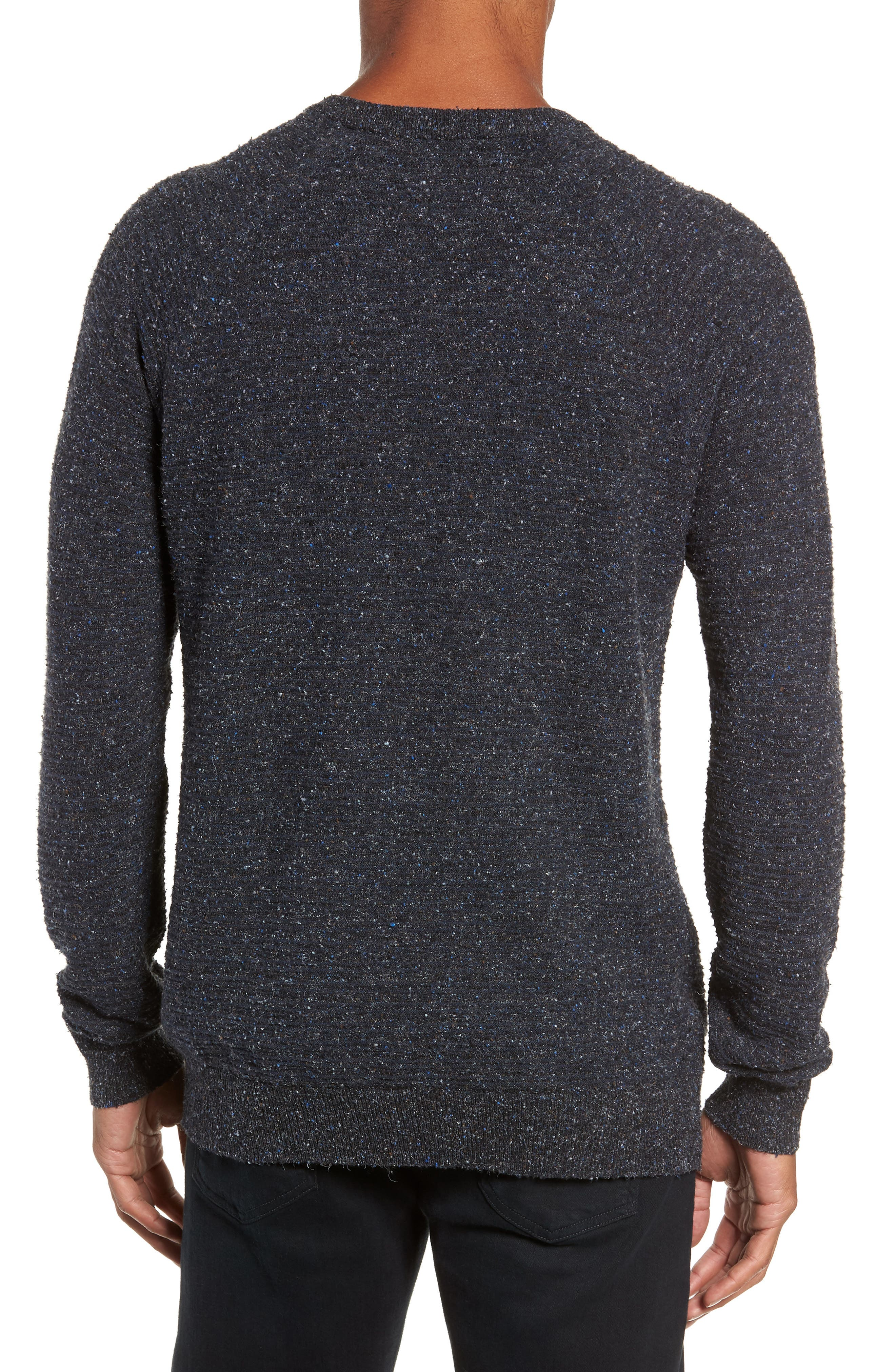 Speckle Stripe Sweater,                             Alternate thumbnail 2, color,                             NAVY/ CHARCOAL