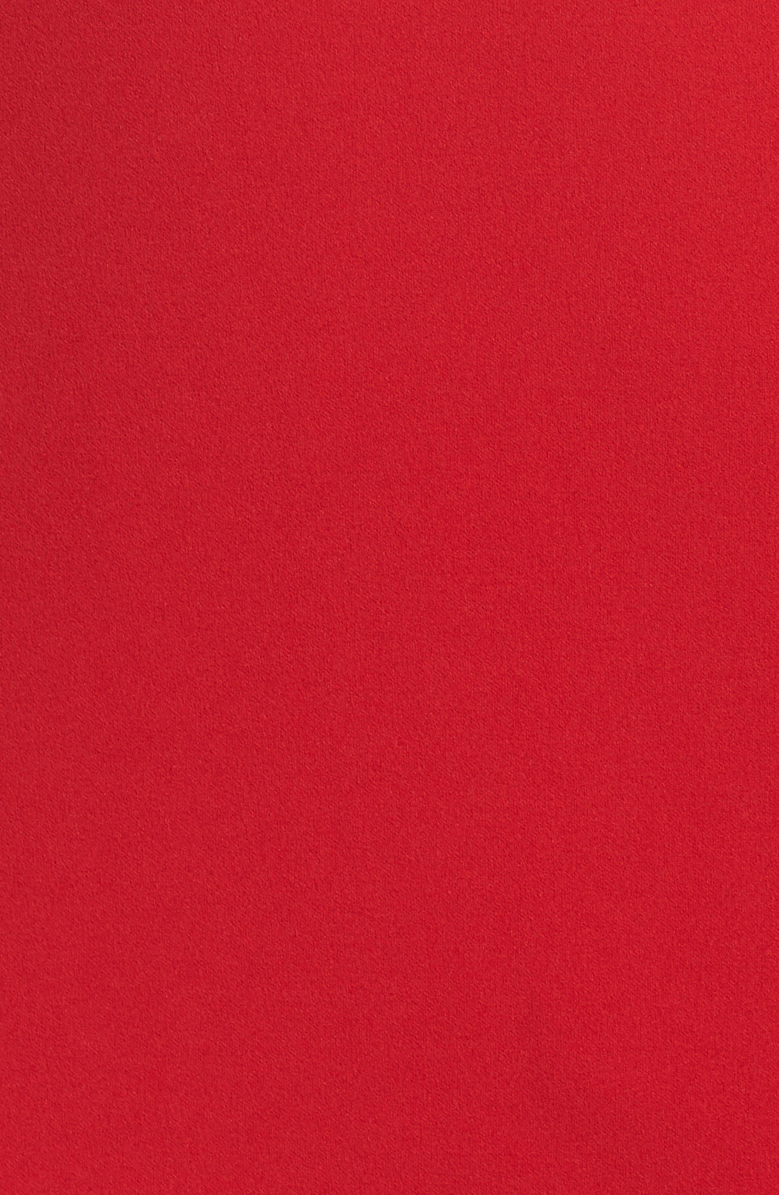 Ruffle One-Shoulder Scuba Body-Con Dress,                             Alternate thumbnail 5, color,                             610