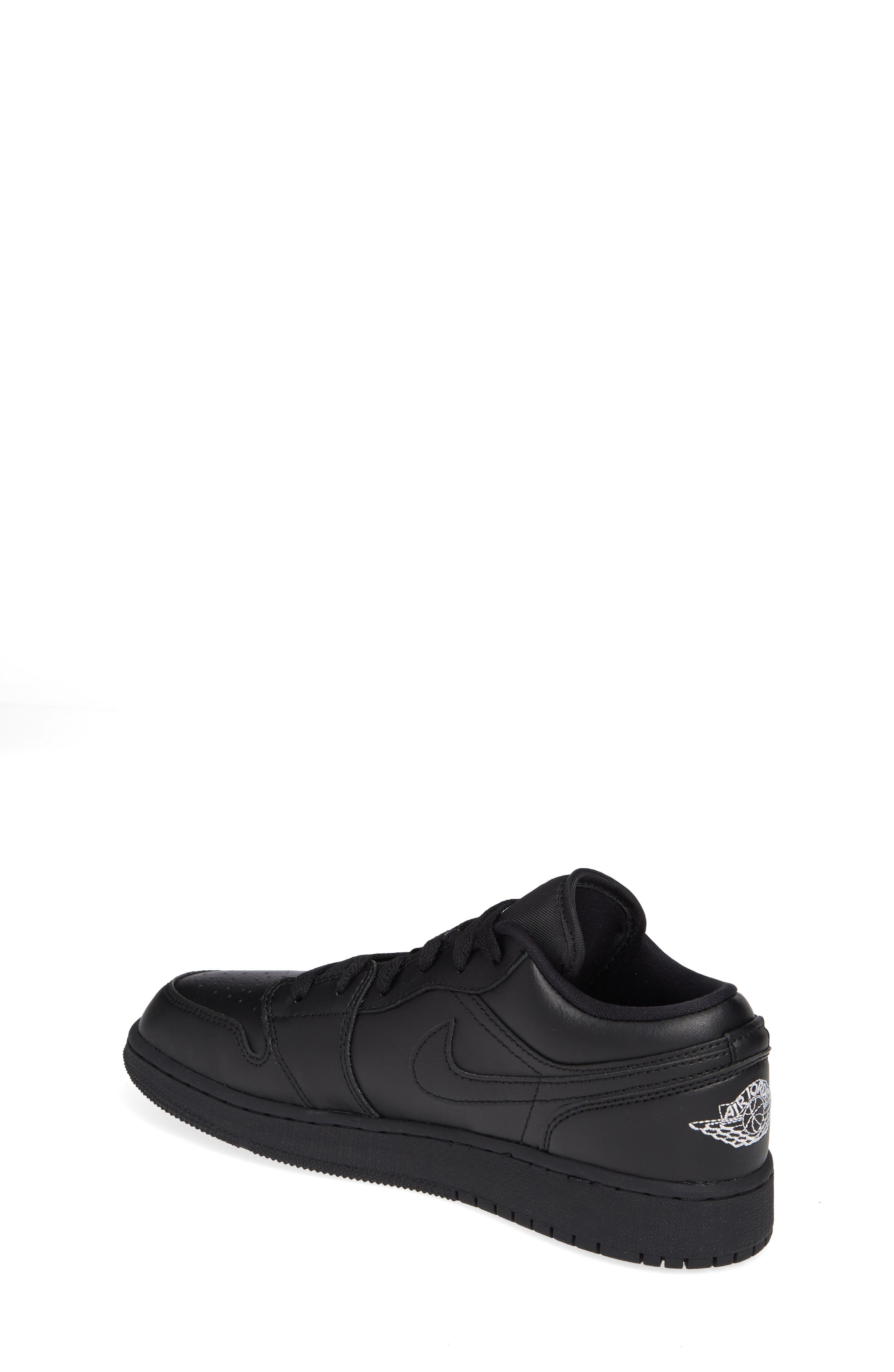 Nike 'Air Jordan 1 Low' Sneaker,                             Alternate thumbnail 2, color,                             BLACK/ WHITE/ BLACK