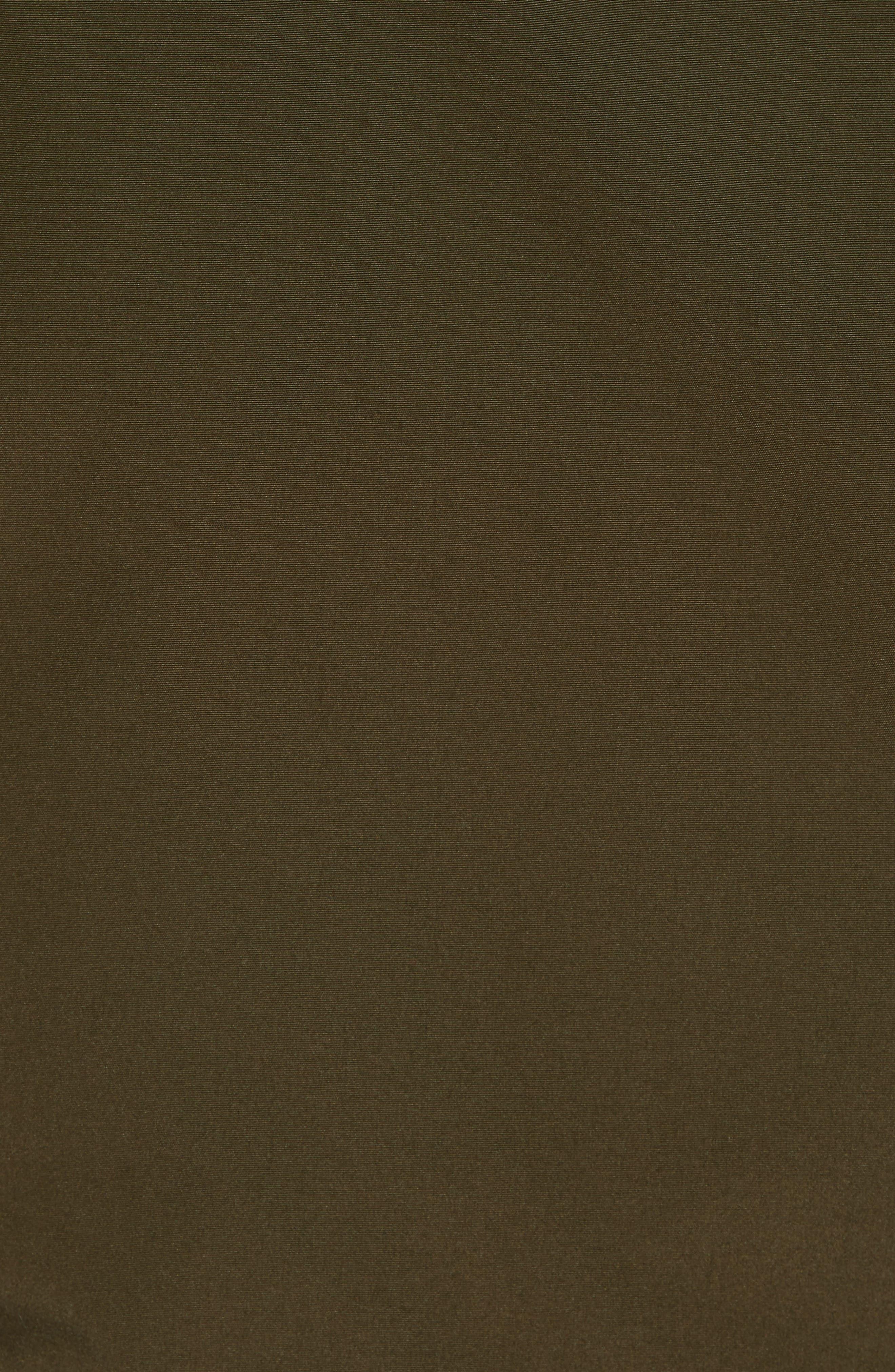 Down Hooded Jacket with Faux Fur Trim,                             Alternate thumbnail 6, color,                             KHAKI