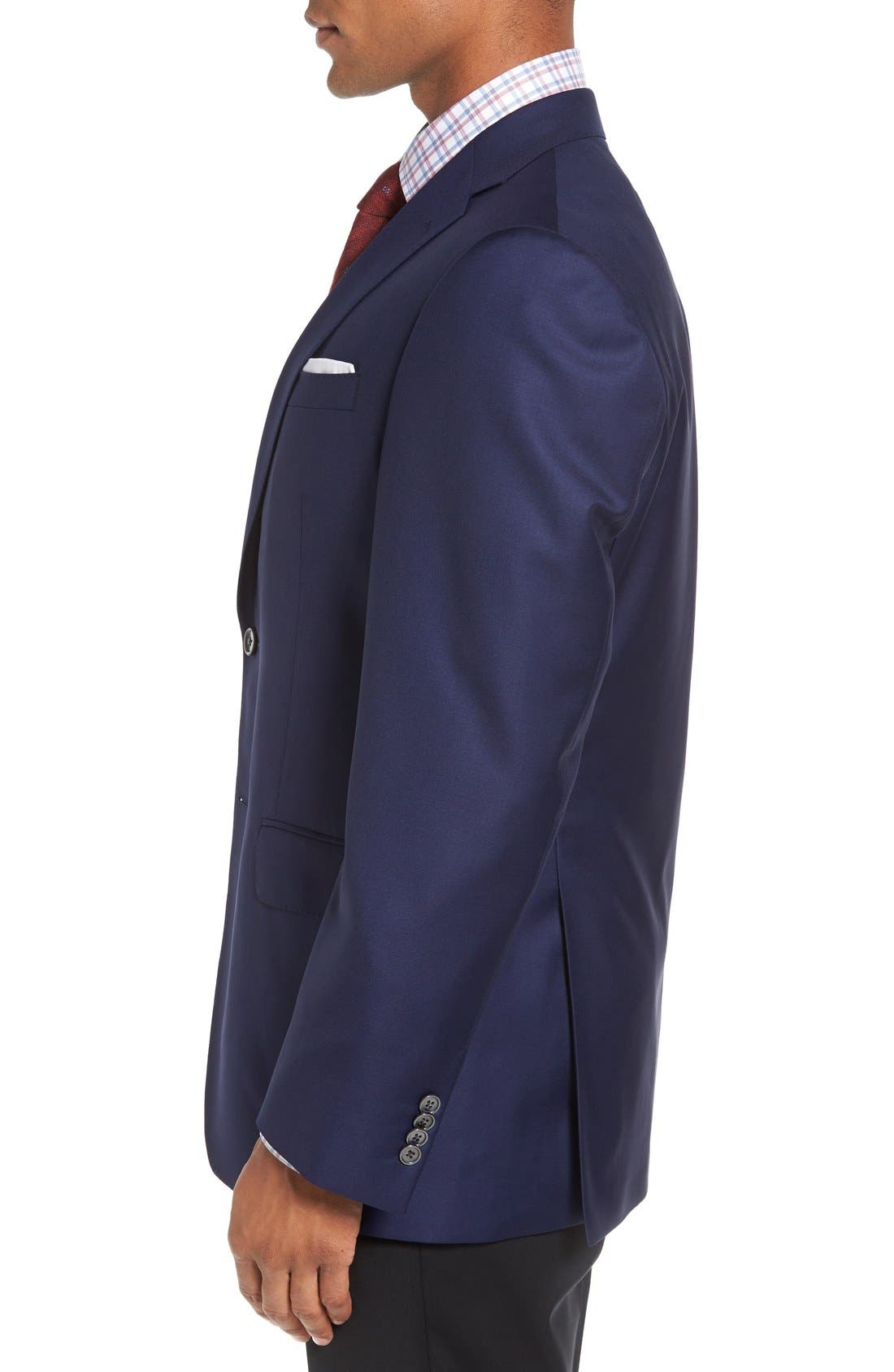 DAVID DONAHUE,                             'Connor' Classic Fit Solid Wool Sport Coat,                             Alternate thumbnail 3, color,                             NAVY