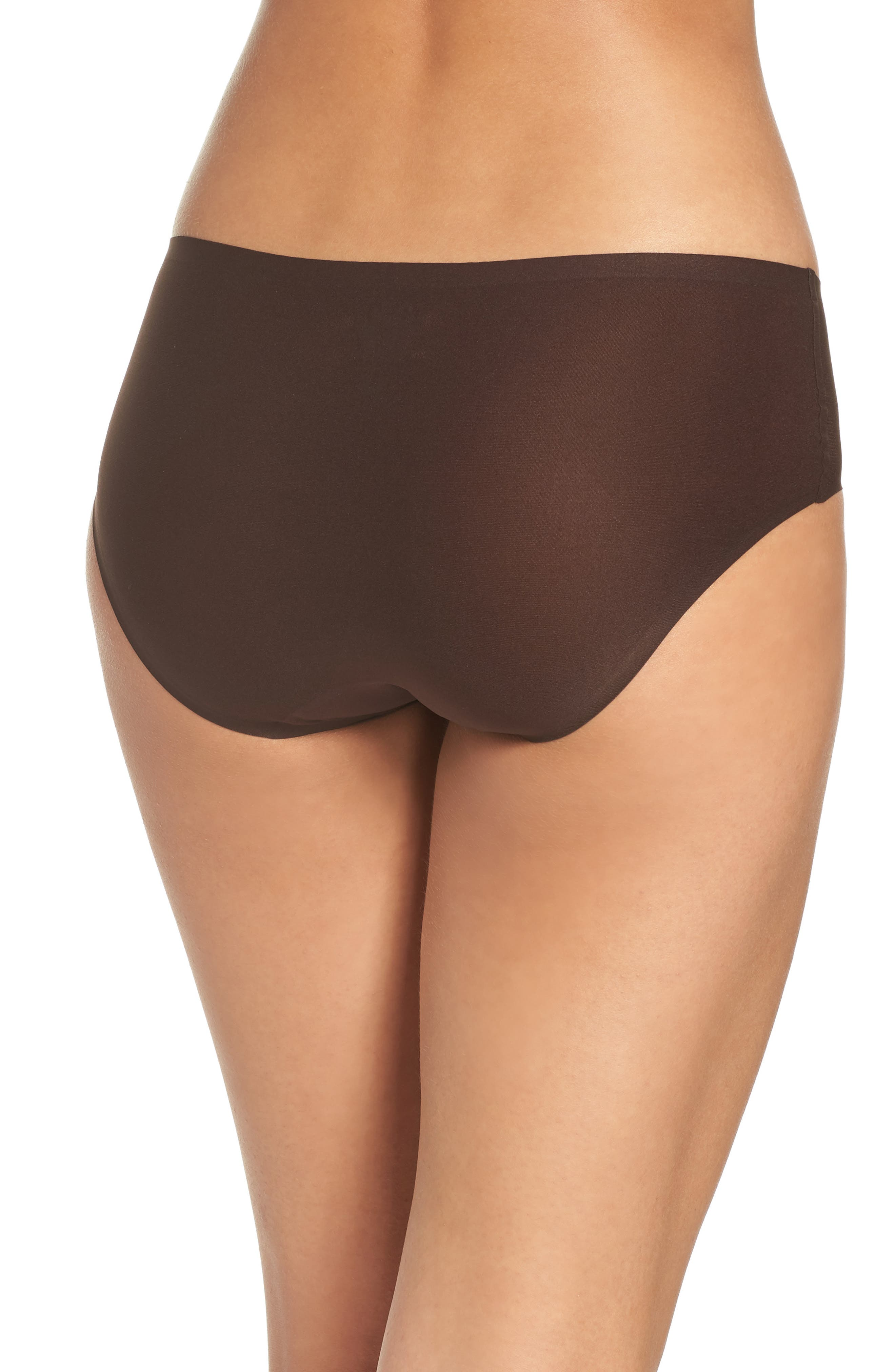 Soft Stretch Seamless Hipster Panties,                             Alternate thumbnail 2, color,                             BROWN
