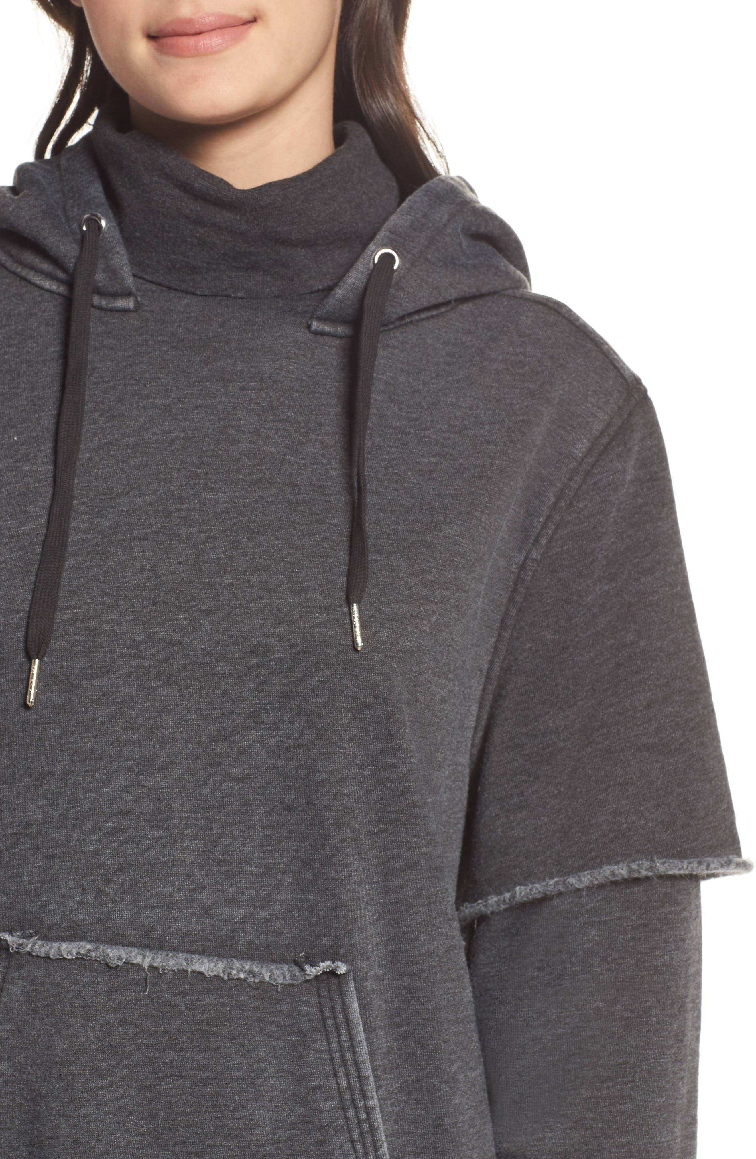 Good Hood Sweatshirt Dress,                             Alternate thumbnail 4, color,                             020