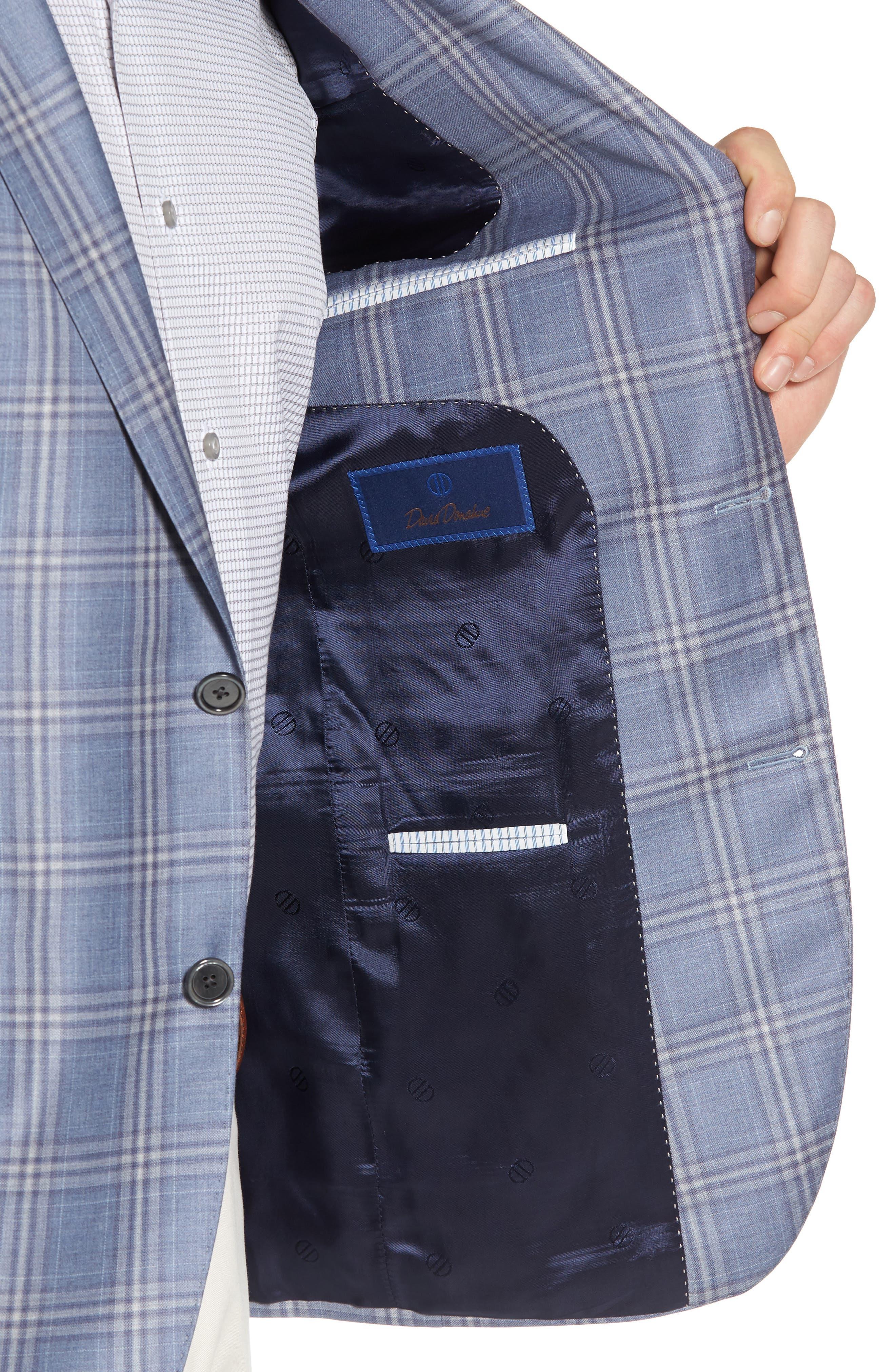 Arnold Classic Fit Plaid Wool Sport Coat,                             Alternate thumbnail 4, color,                             400
