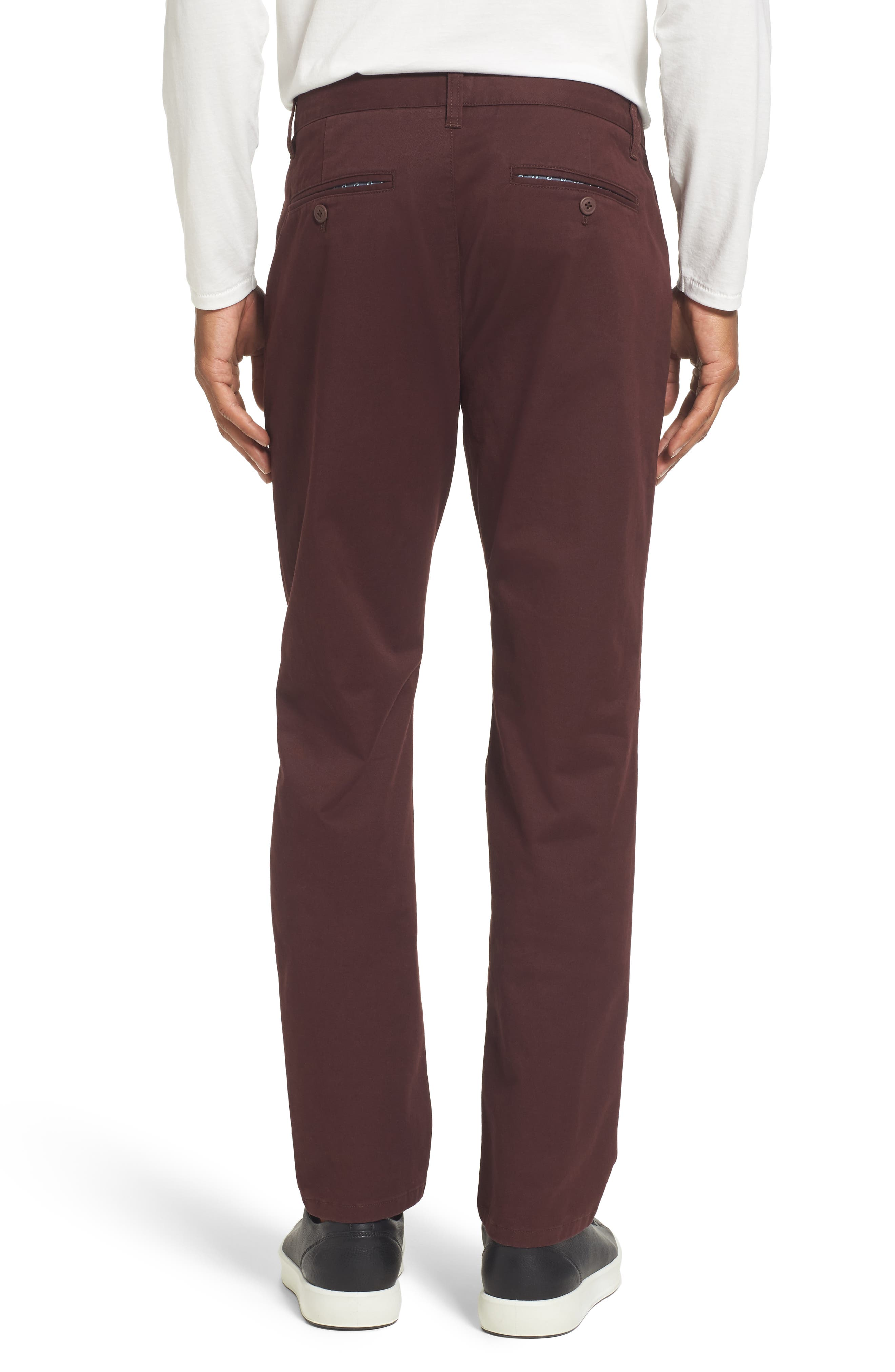 Tailored Fit Washed Stretch Cotton Chinos,                             Alternate thumbnail 58, color,