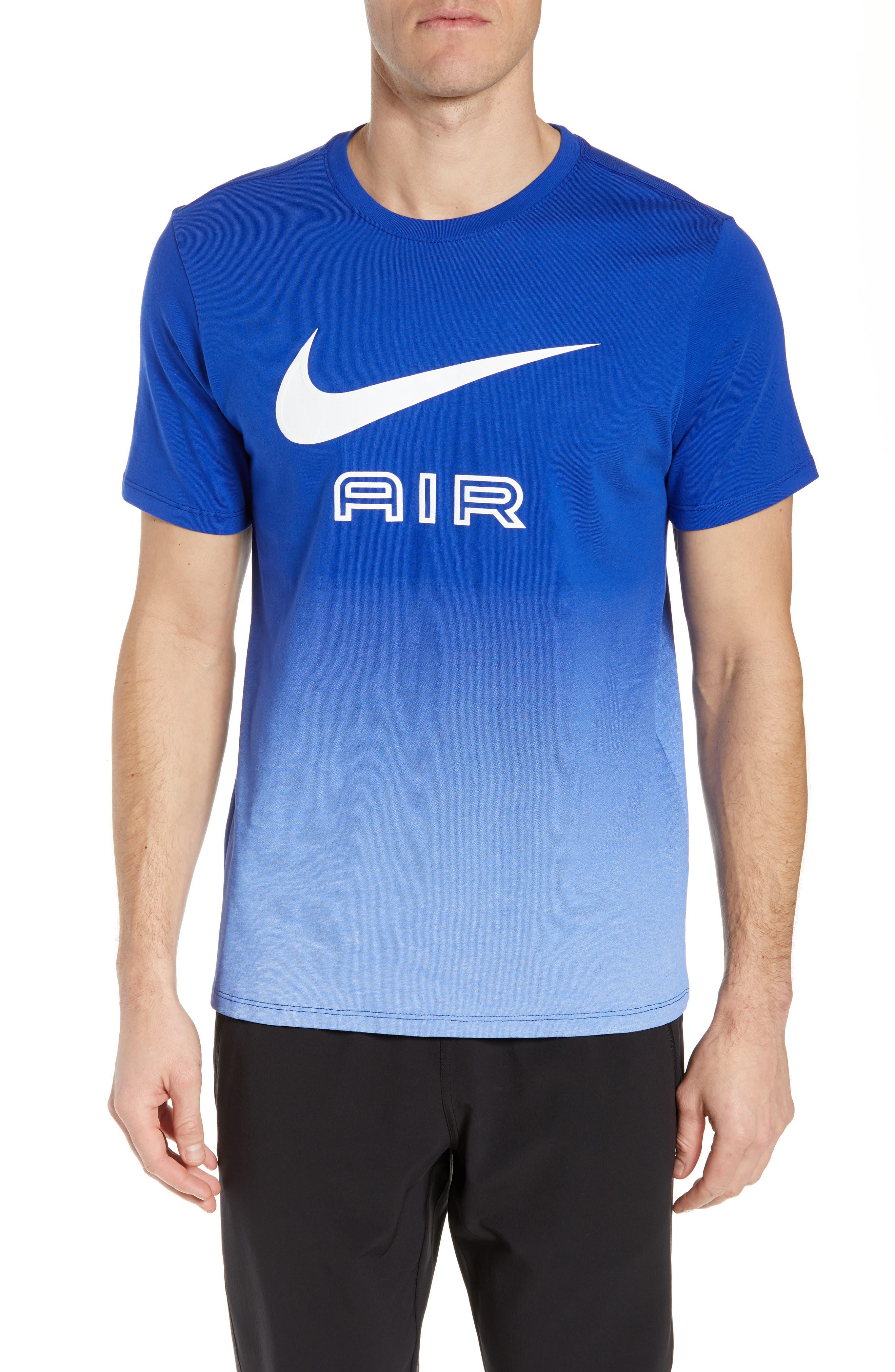 Nike Air Ombre Logo T-Shirt, Blue