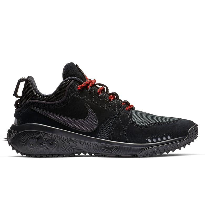 Shop Nike Acg Dog Mountain Trail Shoe In Black Oil Grey