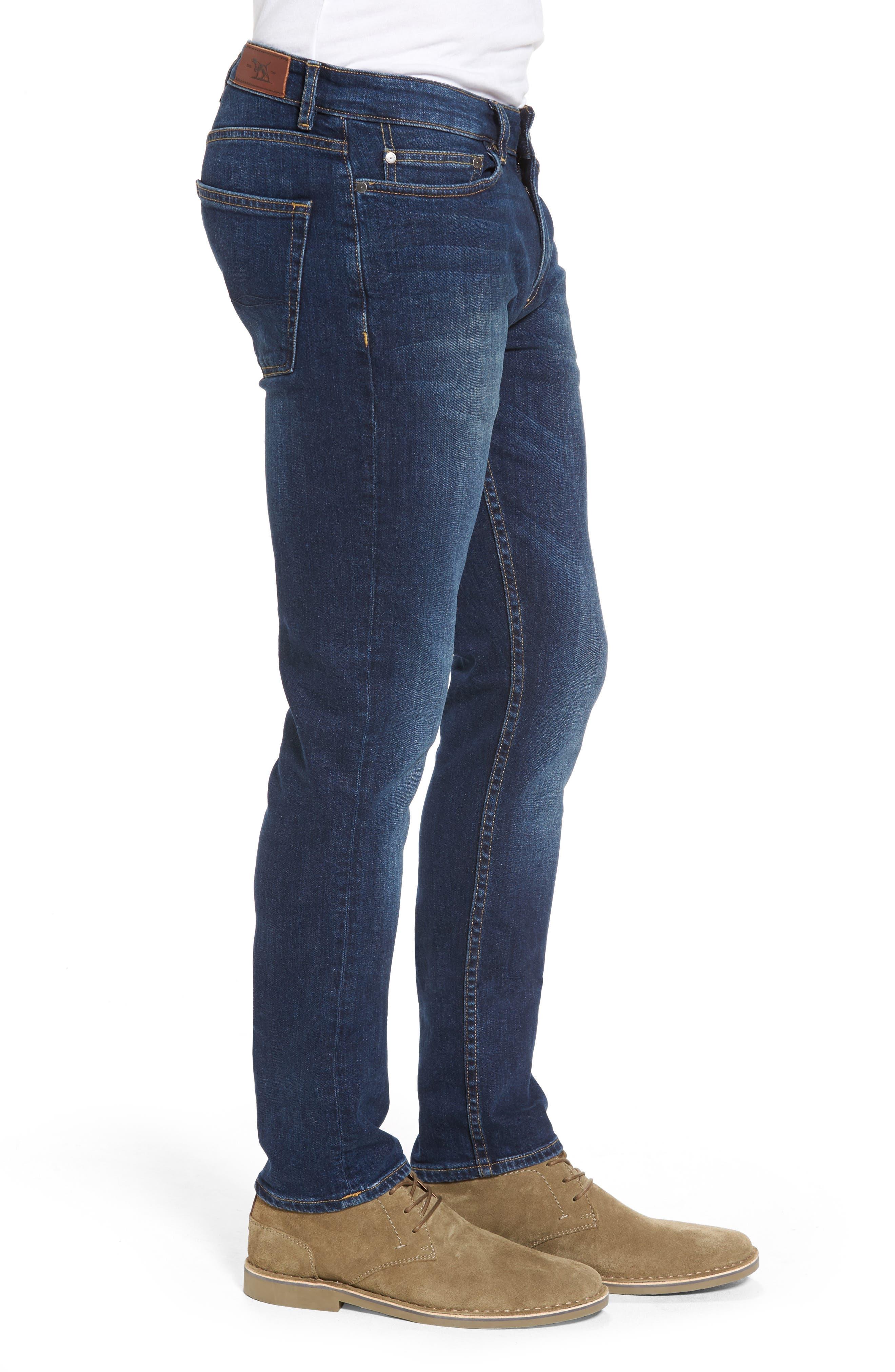 Derbyshire Slim Fit Jeans,                             Alternate thumbnail 3, color,                             DENIM