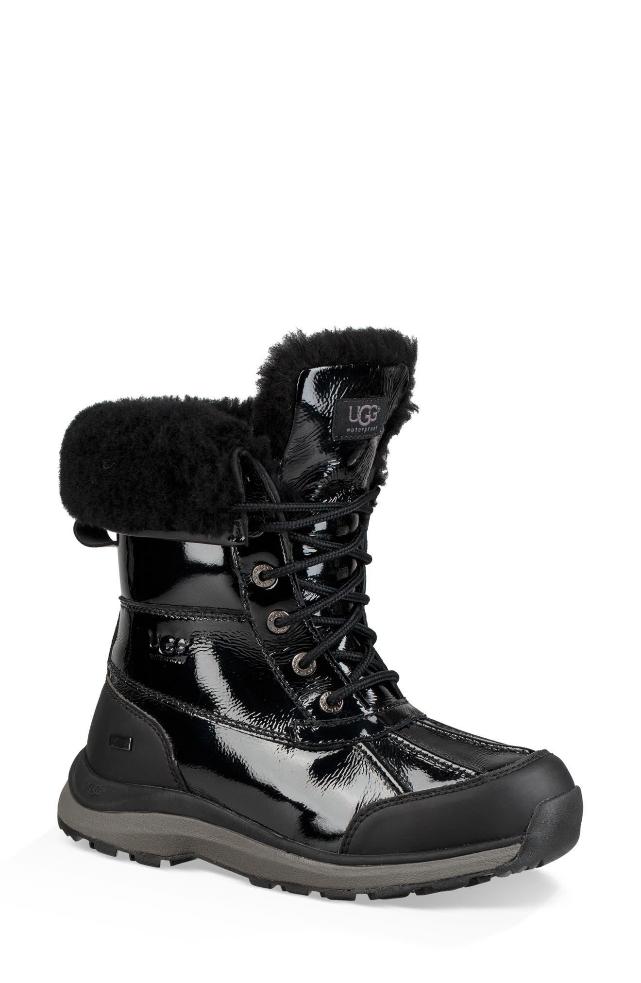 Adirondack III Waterproof Insulated Patent Winter Boot,                         Main,                         color, BLACK