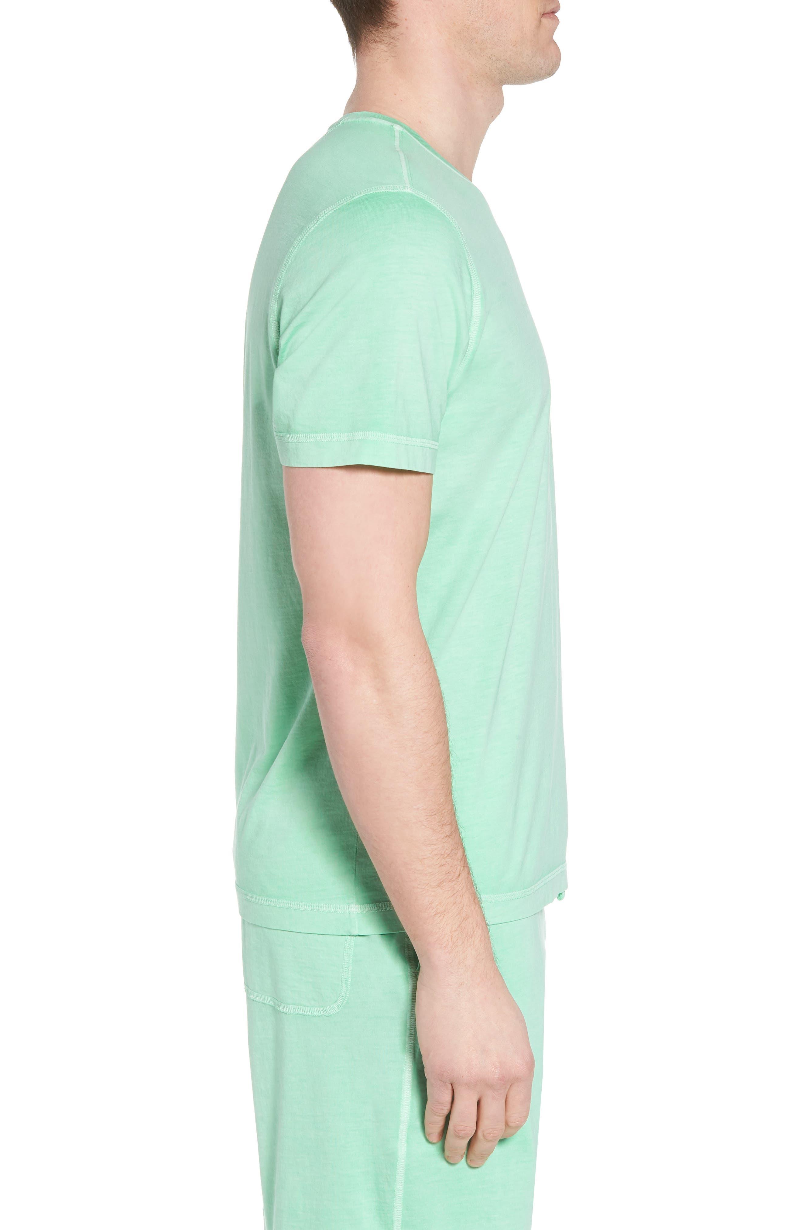 Peruvian Pima Cotton Crewneck T-Shirt,                             Alternate thumbnail 3, color,                             LIME