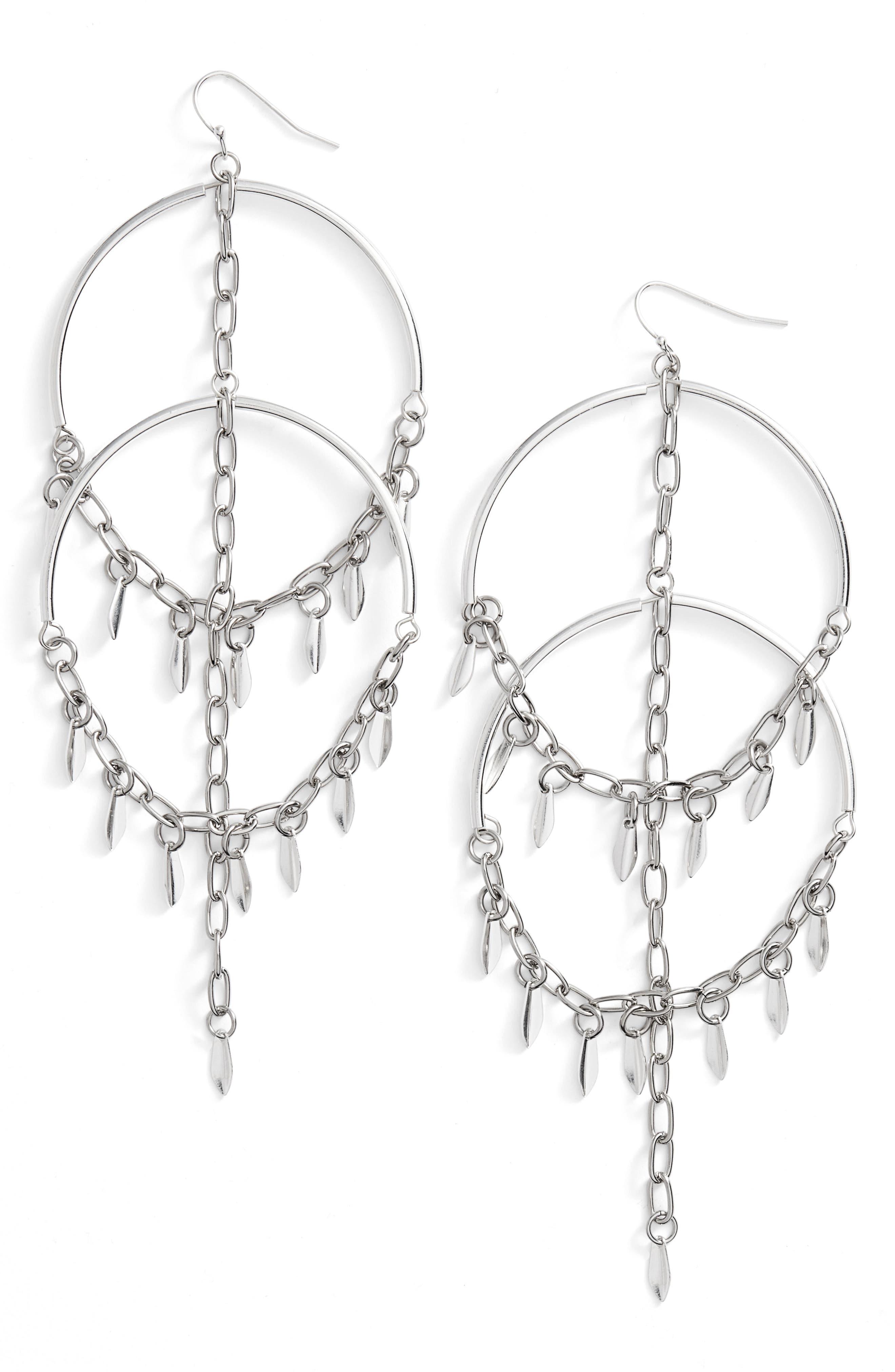 Cannes Chandelier Earrings,                             Main thumbnail 1, color,                             040