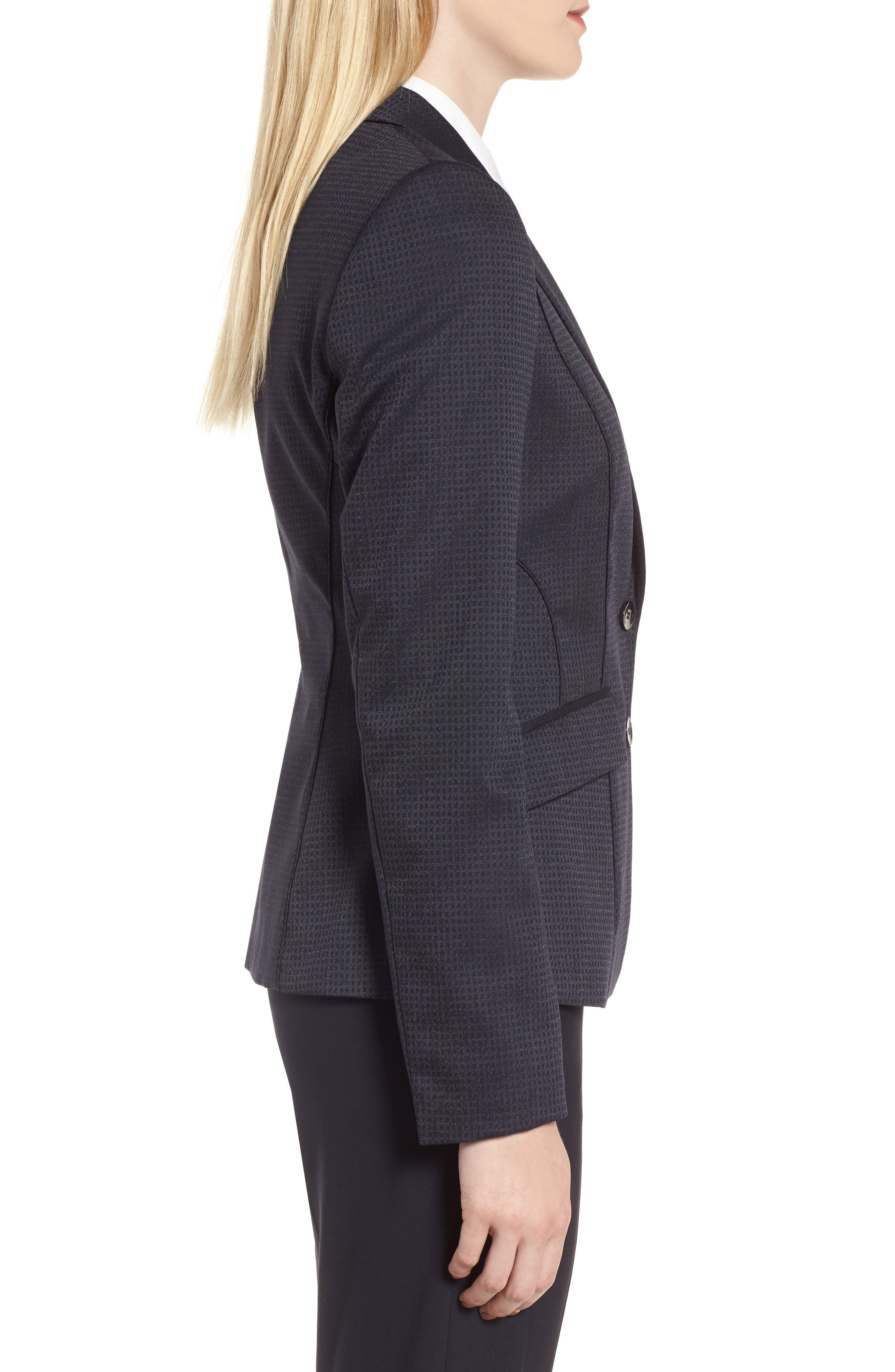 Jukani Check Wool Blend Suit Jacket,                             Alternate thumbnail 3, color,                             020