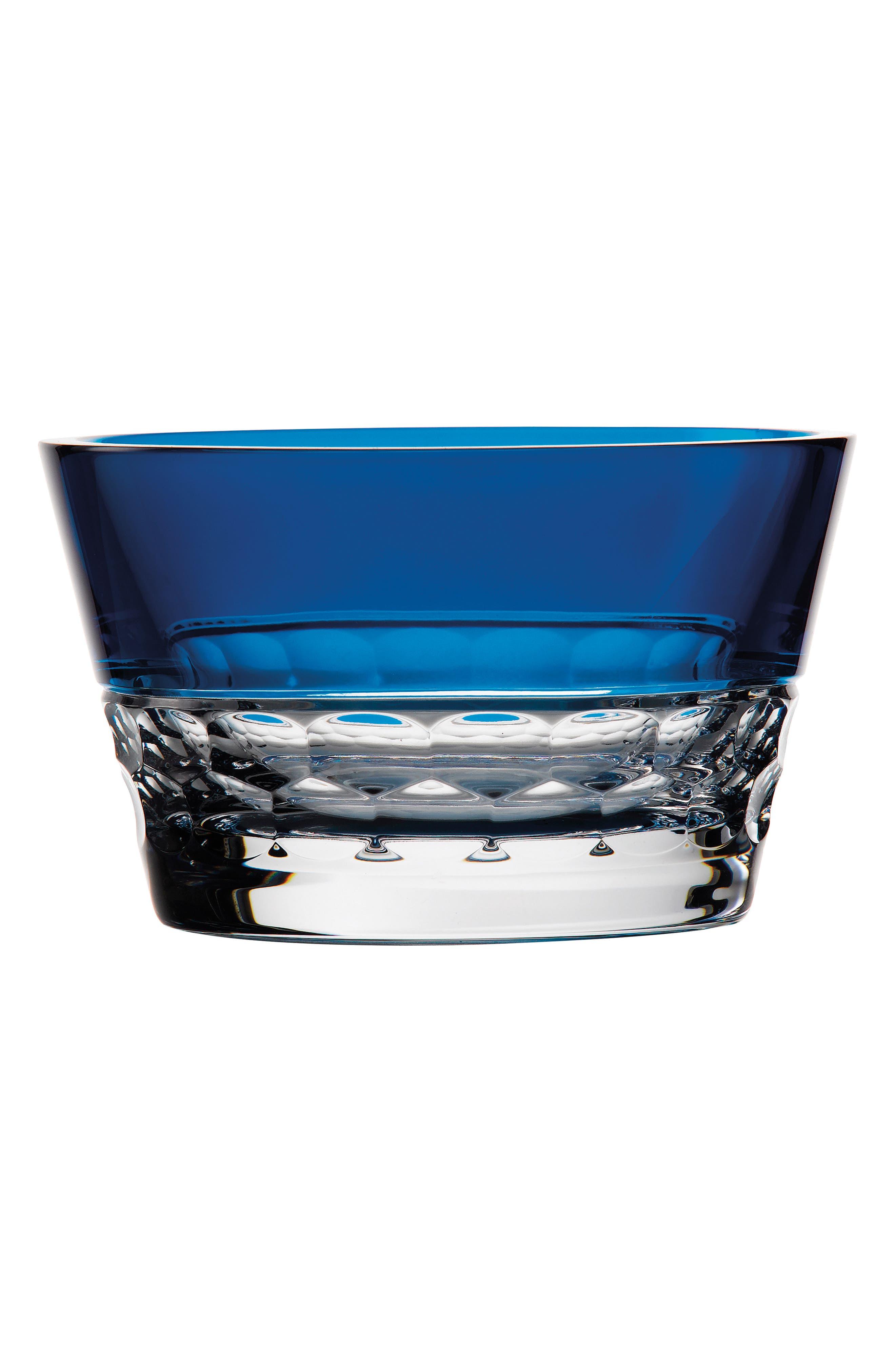 Jo Sampson Half & Half Azure Lead Crystal Bowl,                             Main thumbnail 1, color,                             100