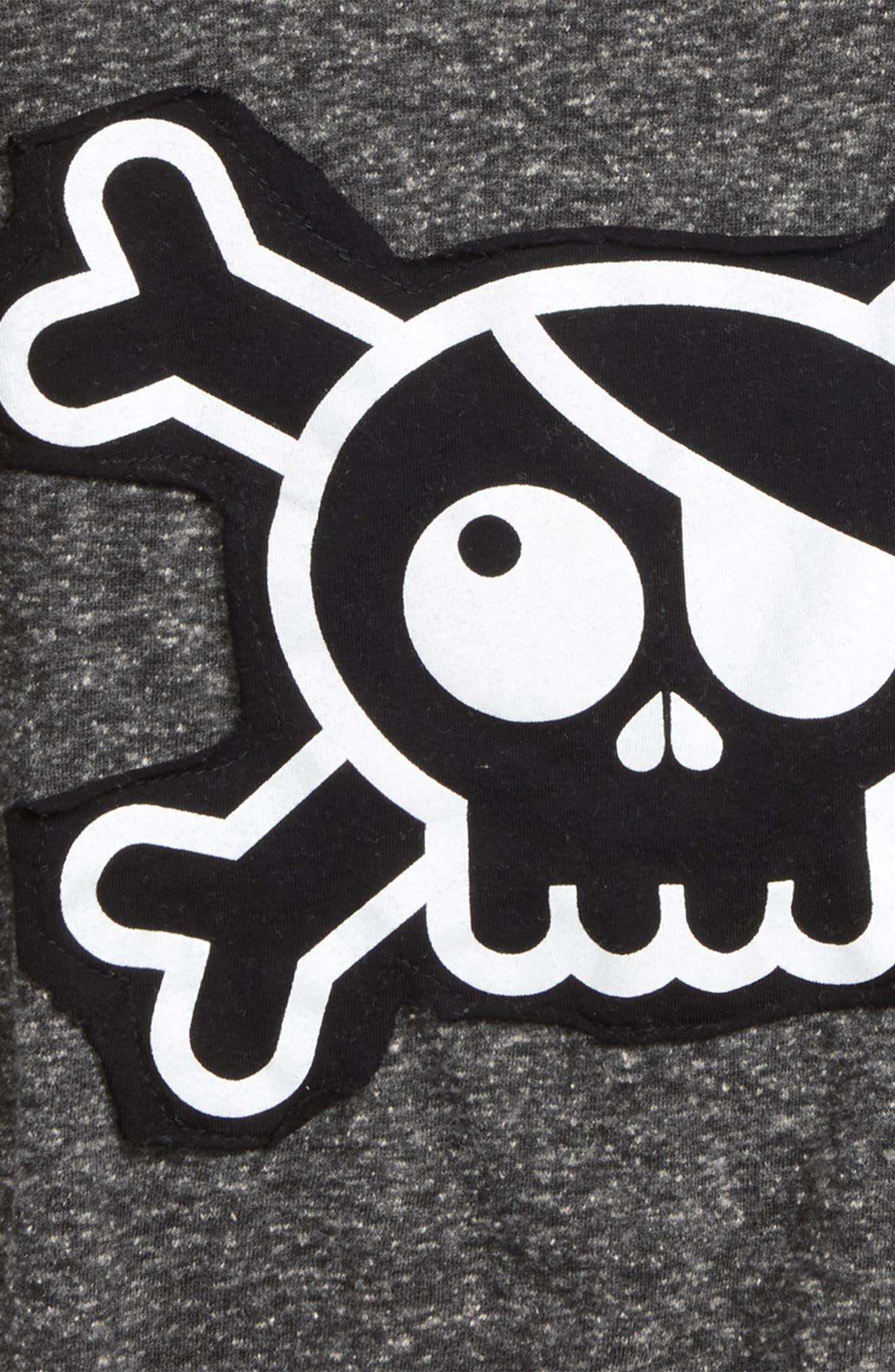 Skull Appliqué T-Shirt,                             Alternate thumbnail 3, color,