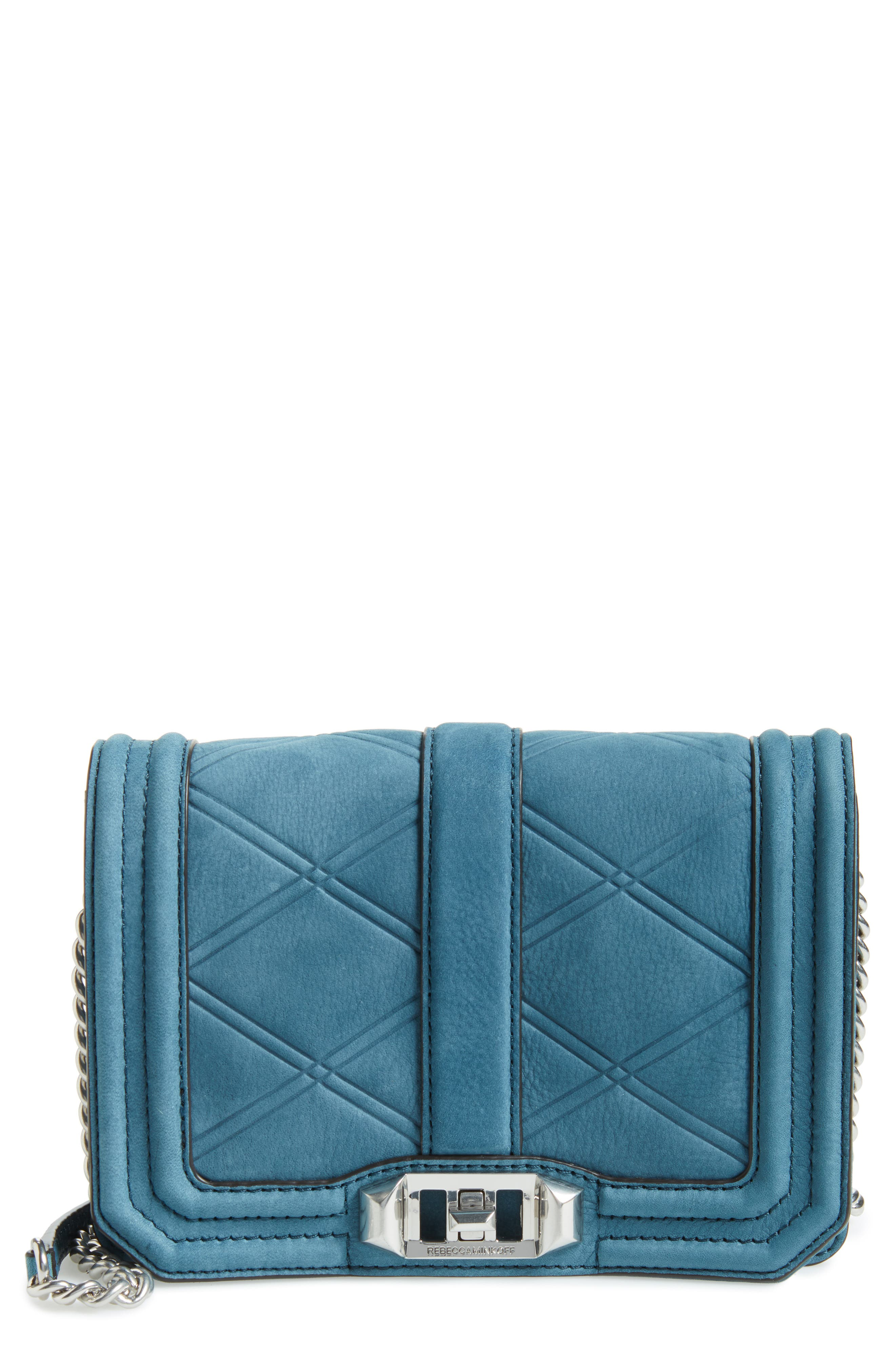 Small Love Nubuck Leather Crossbody Bag,                             Main thumbnail 3, color,