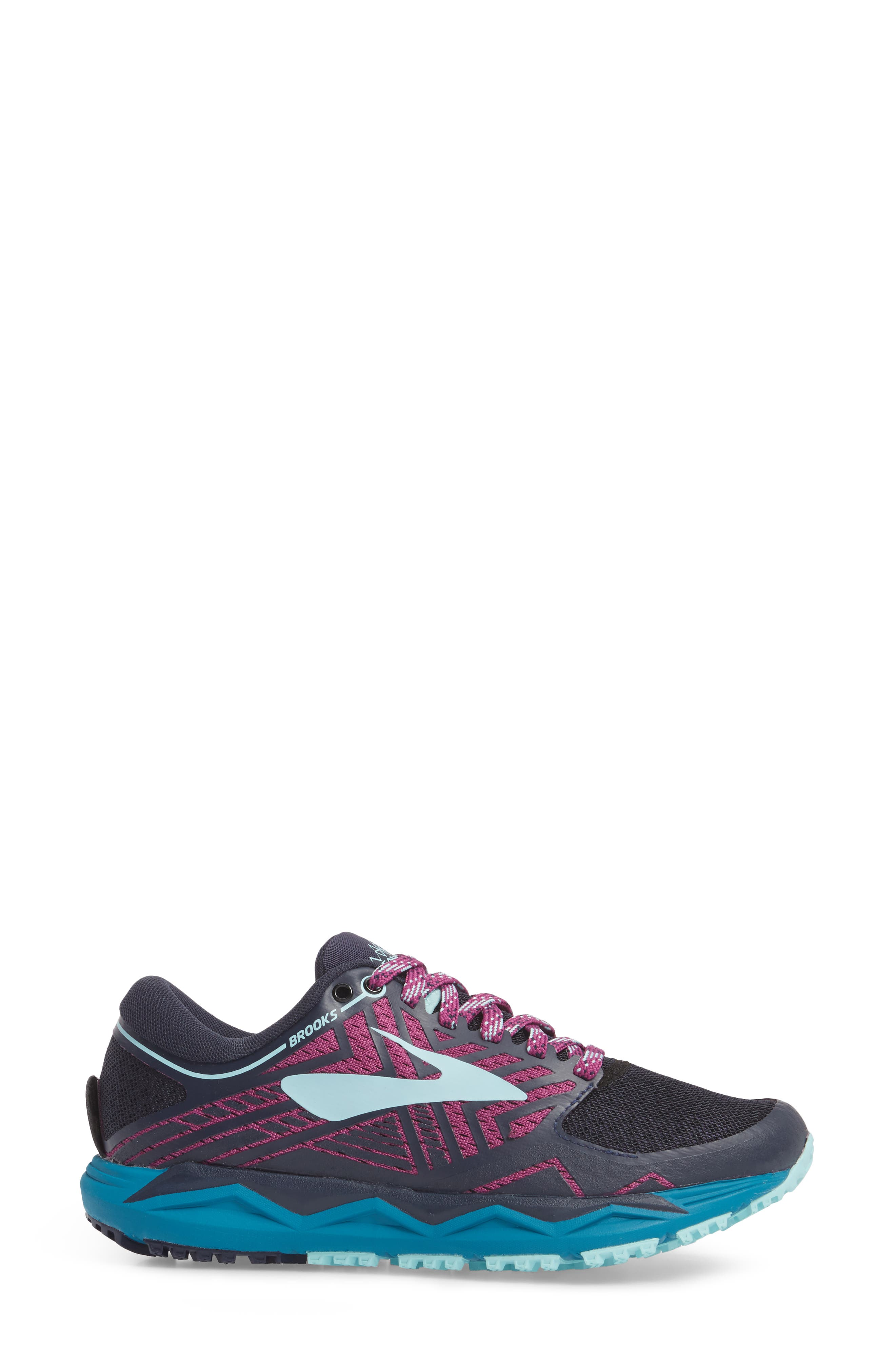 Caldera 2 Trail Running Shoe,                             Alternate thumbnail 3, color,                             NAVY/ PLUM/ ICE BLUE