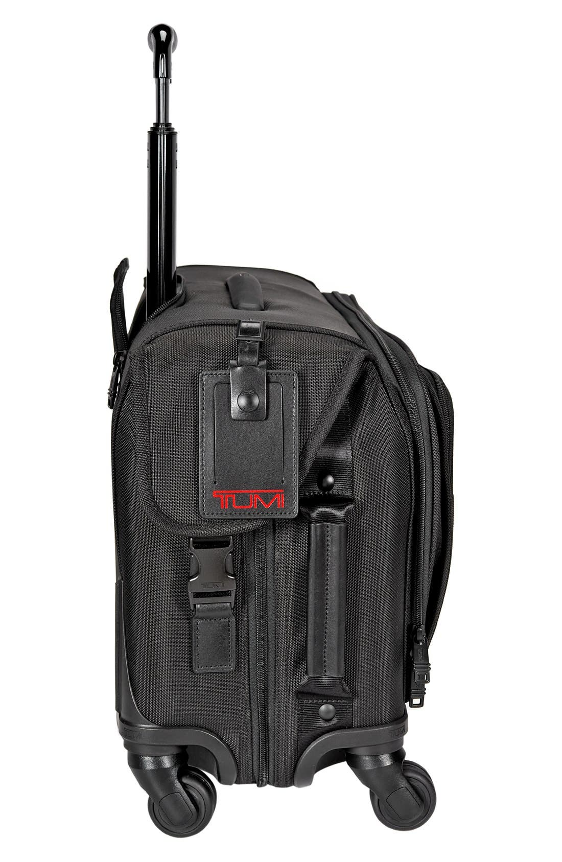 Alpha 2 Wheeled 22-Inch Carry-On Garment Bag,                             Alternate thumbnail 6, color,                             BLACK