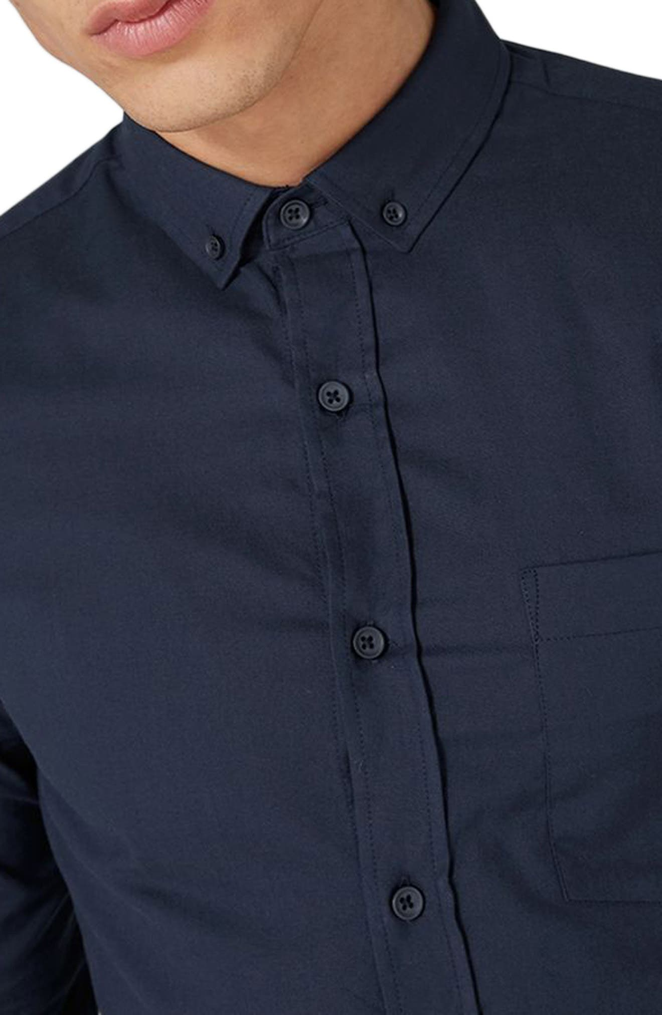Muscle Fit Oxford Shirt,                             Alternate thumbnail 10, color,