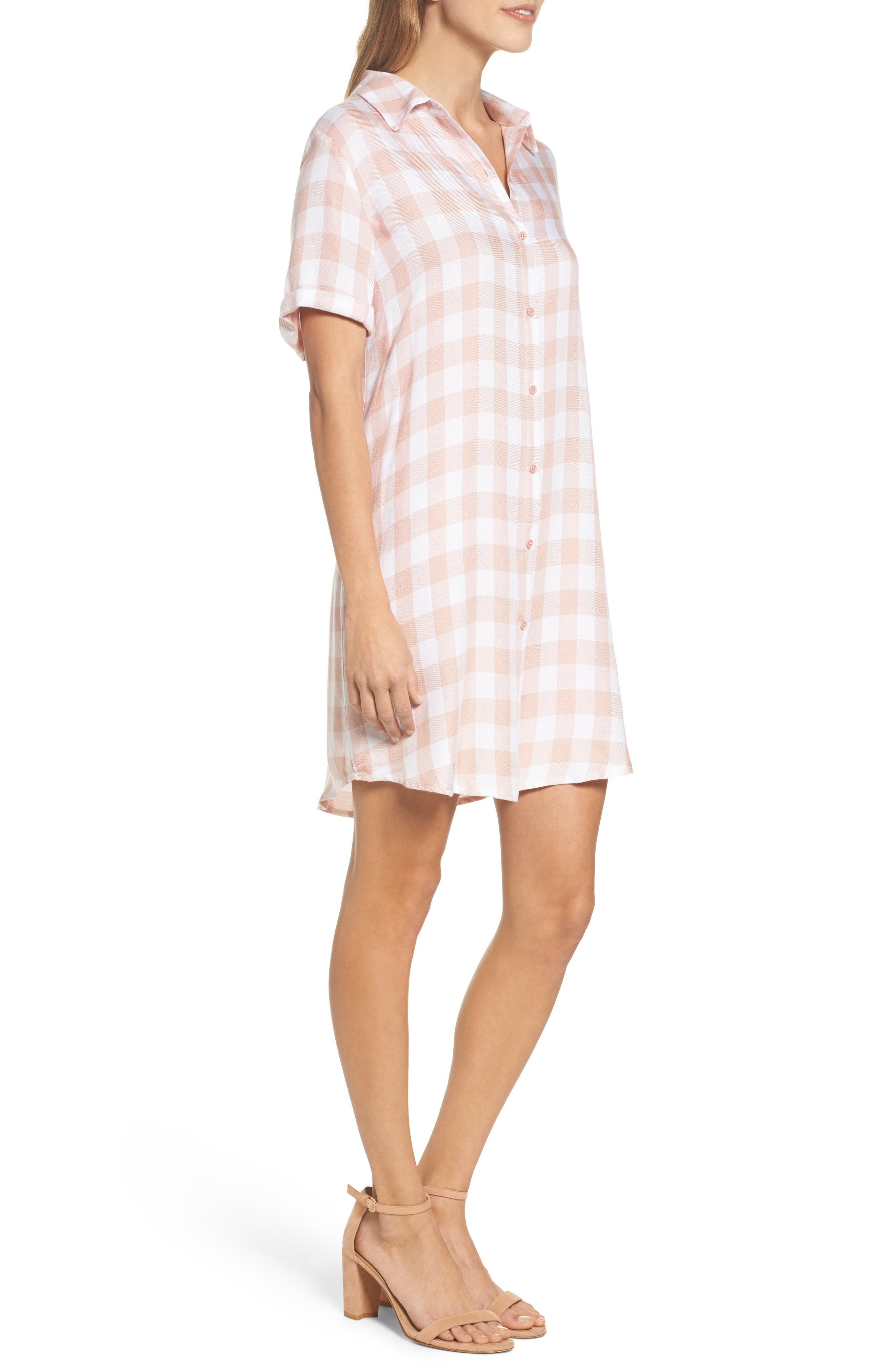 Cicely Plaid Shirtdress,                             Alternate thumbnail 3, color,                             680