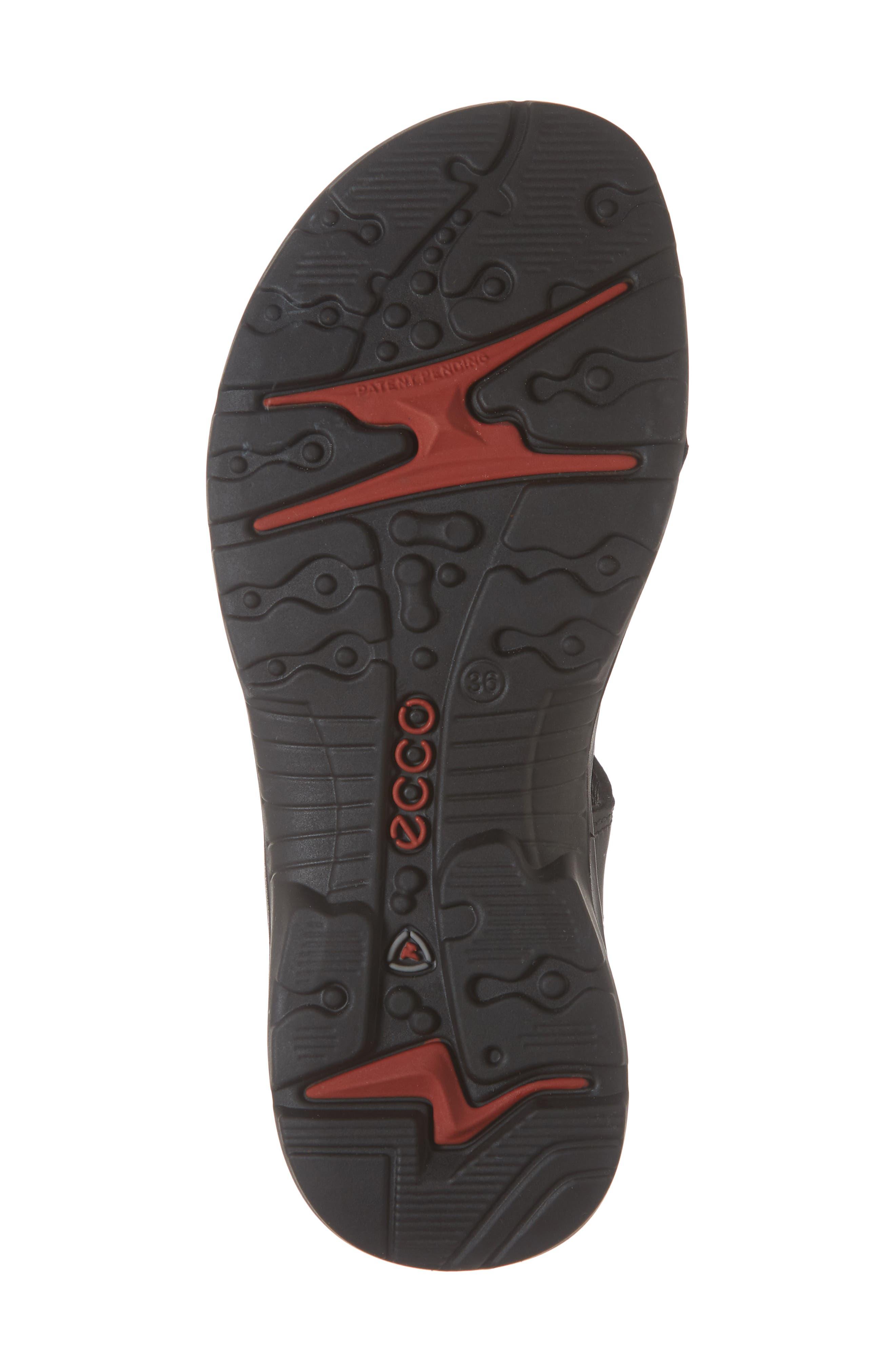 Premium Offroad Sandal,                             Alternate thumbnail 6, color,                             BLACK NUBUCK LEATHER