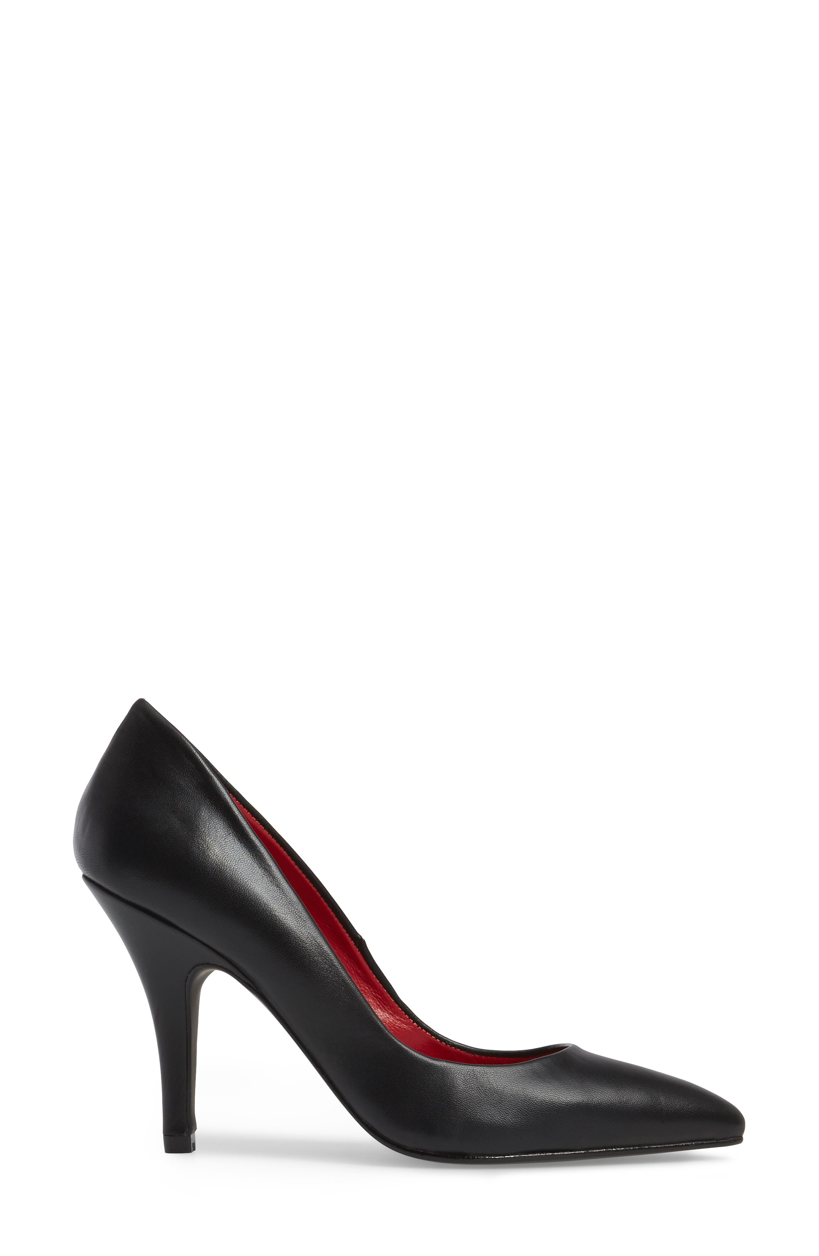 Sachi Pointy Toe Pump,                             Alternate thumbnail 3, color,                             001