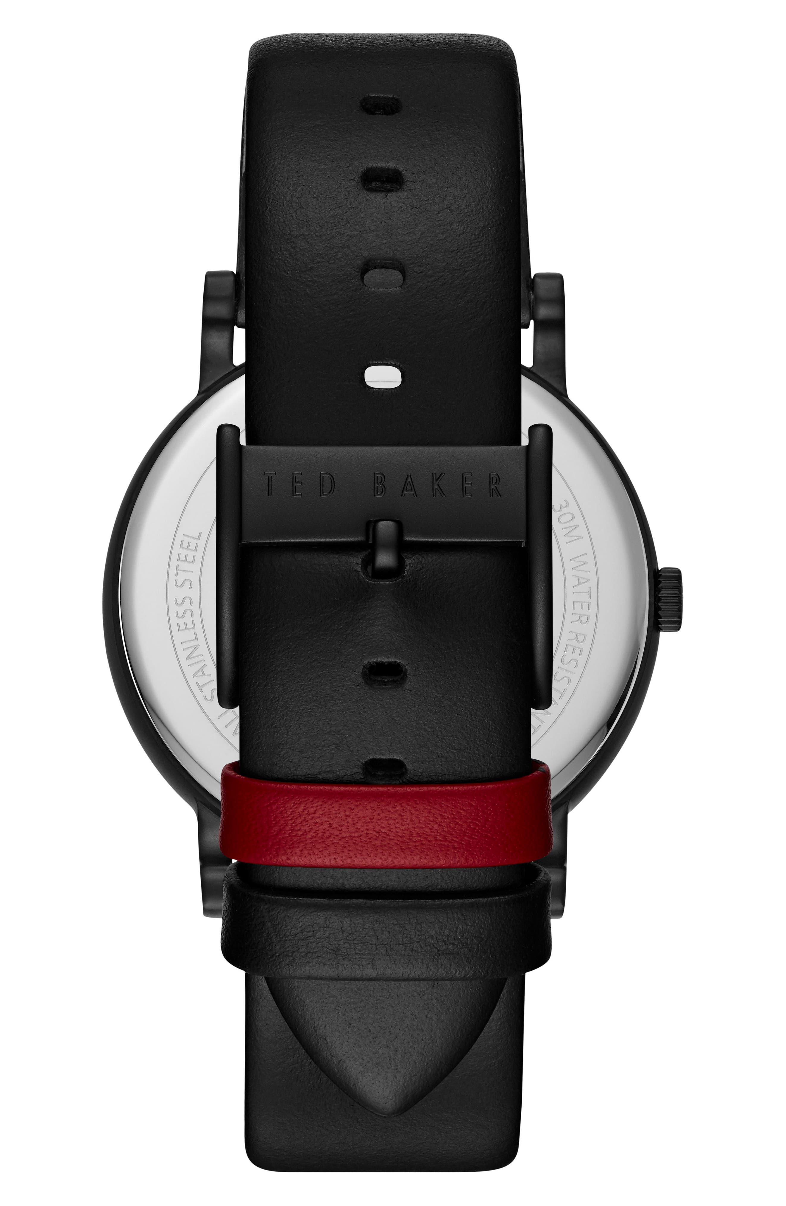 Nolan Subeye Leather Strap Watch, 42mm,                             Alternate thumbnail 2, color,                             001