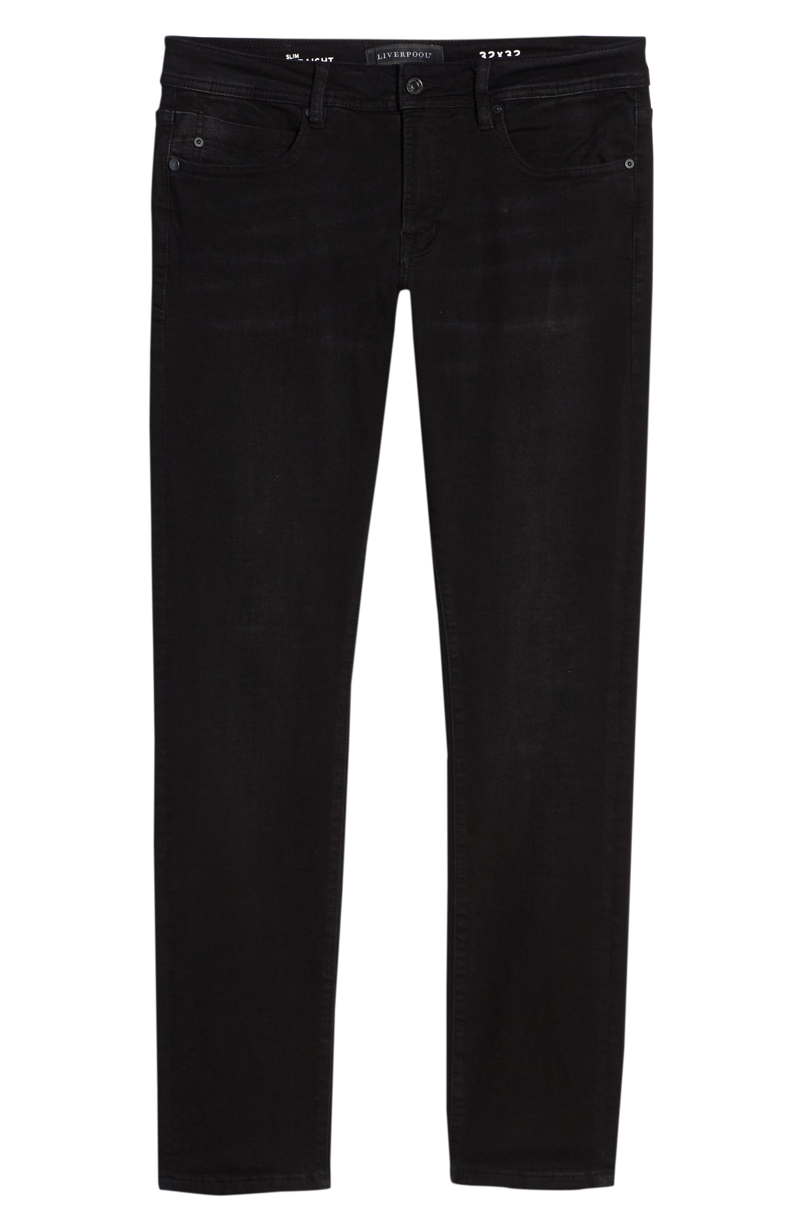 Kingston Slim Straight Leg Jeans,                             Alternate thumbnail 6, color,                             BULLET DARK