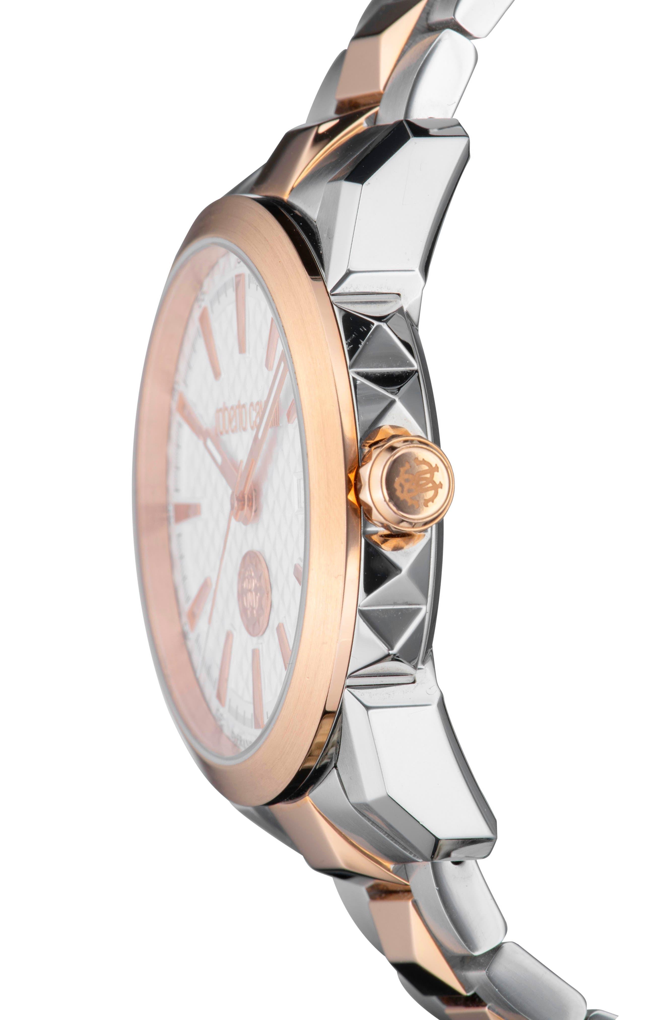 Costellato Bracelet Watch,                             Alternate thumbnail 3, color,                             ROSE GOLD/ SILVER