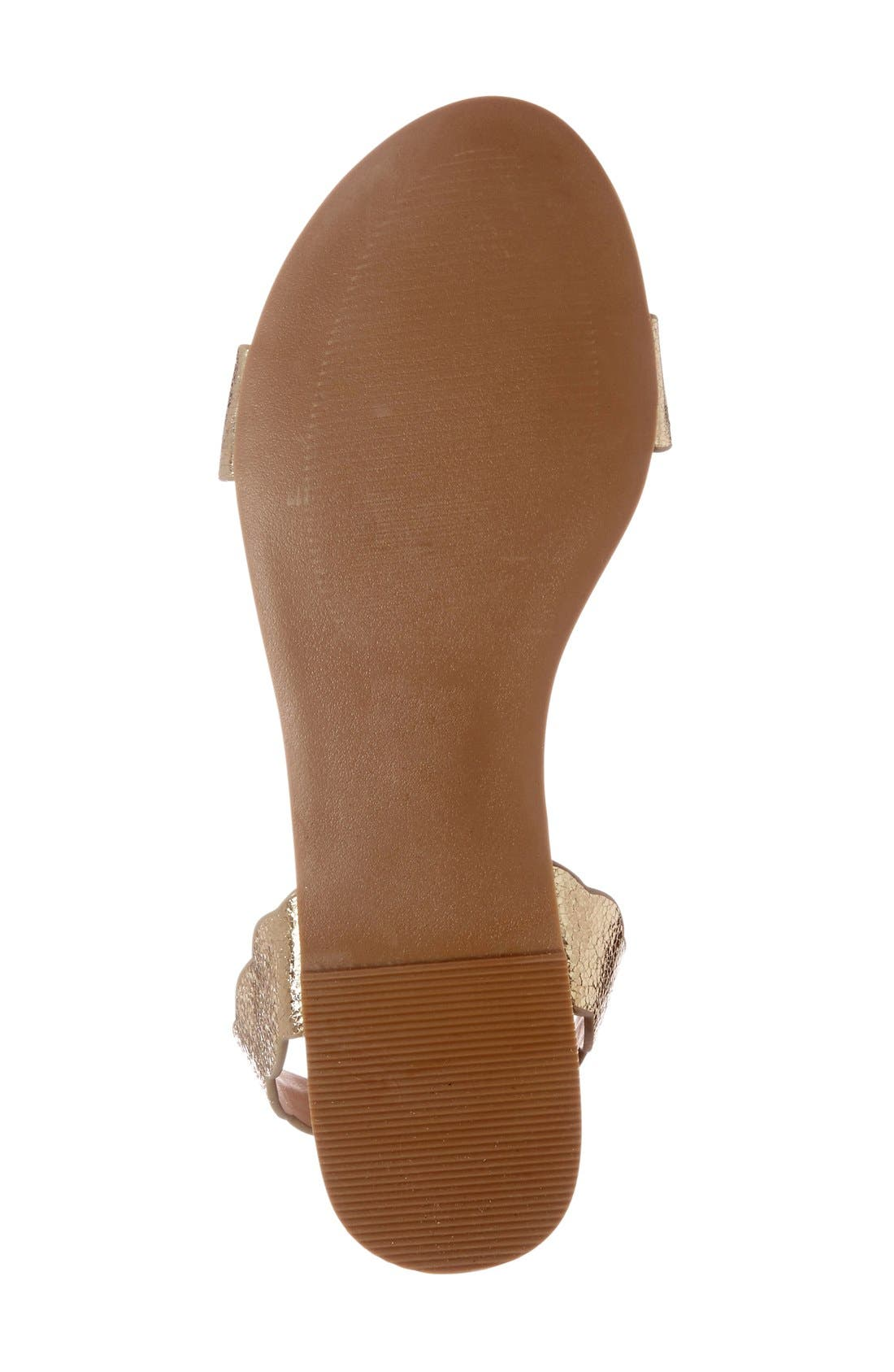 'Odette' Scalloped Ankle Strap Flat Sandal,                             Alternate thumbnail 21, color,