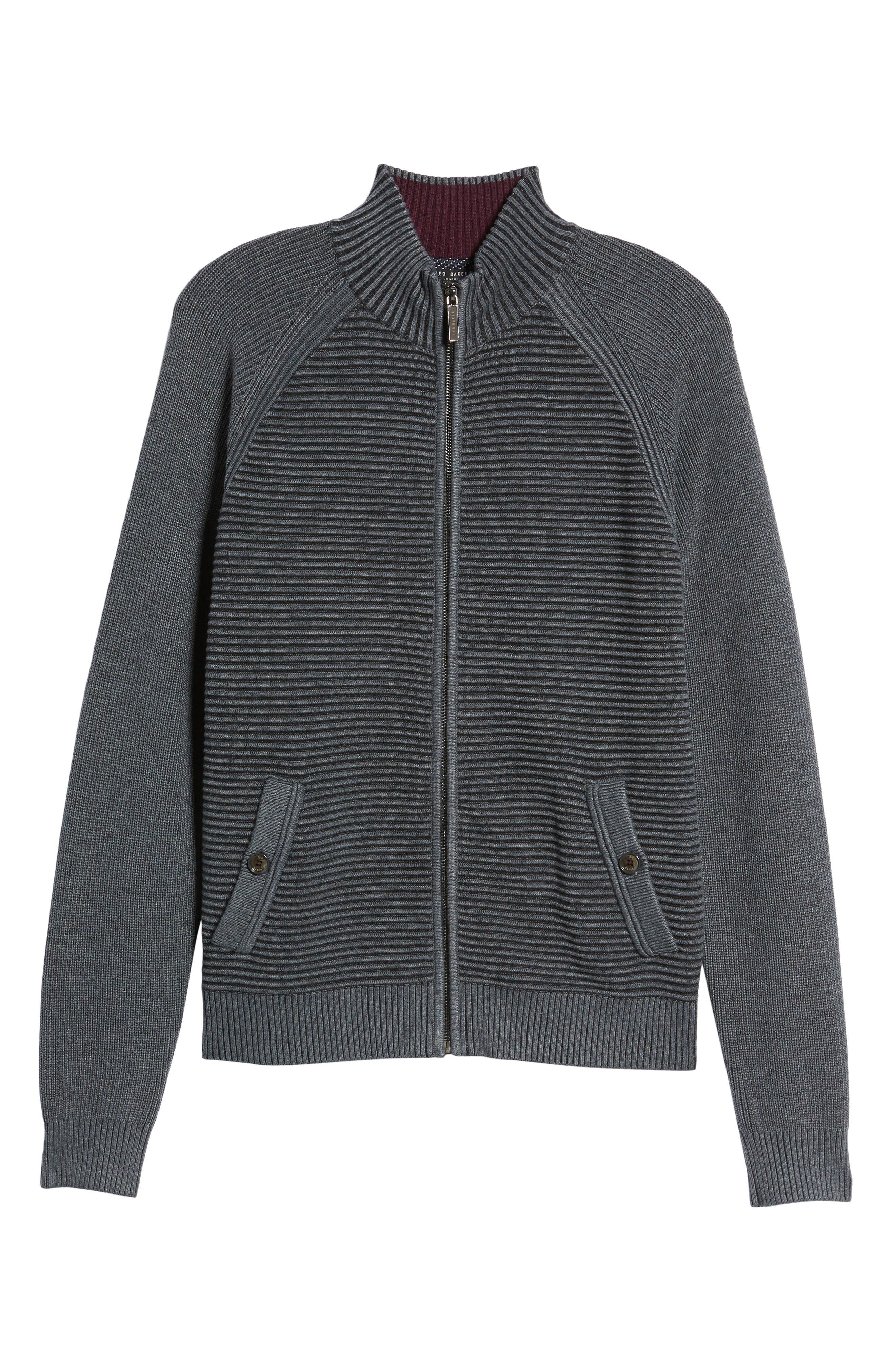 Modern Slim Fit Raglan Sweater,                             Alternate thumbnail 6, color,                             030